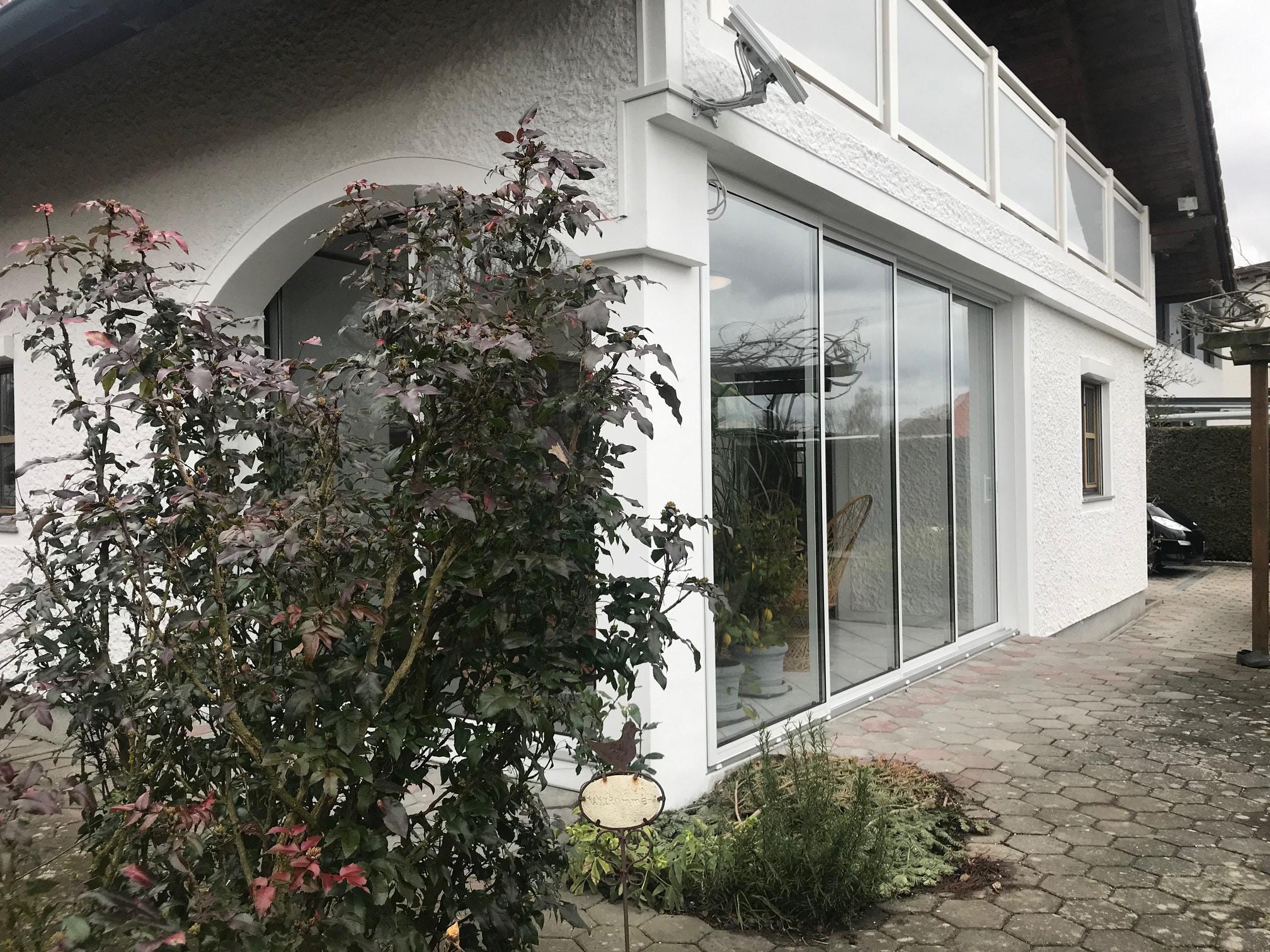 Gerahmte Terrassen Glasschiebetür