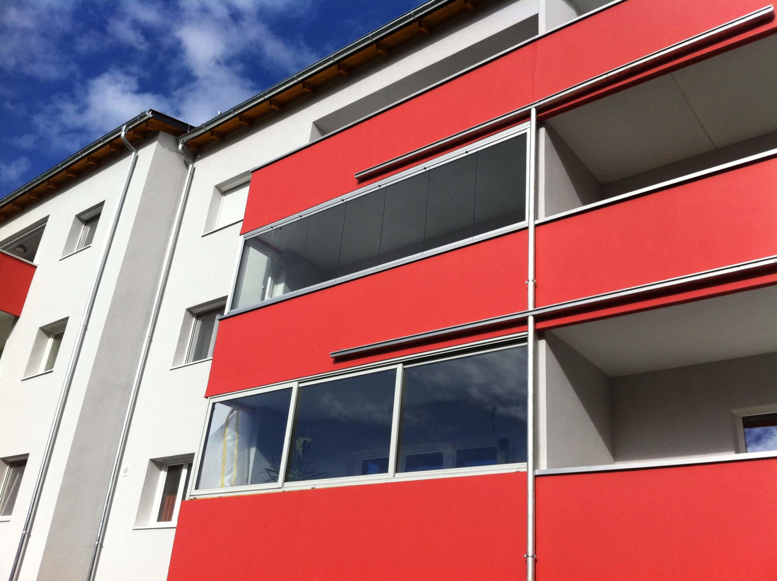 Glas Faltelemente Balkon