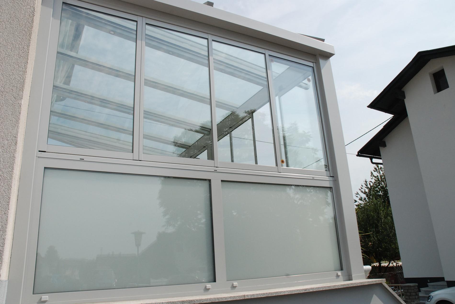 Glas Faltwände für Wintergarten