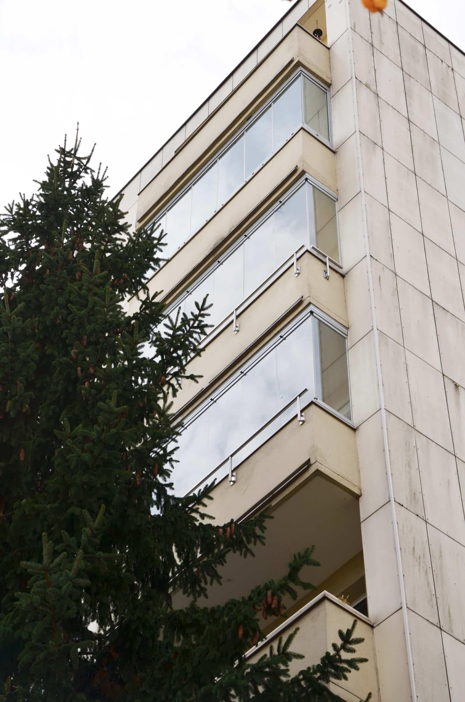 Glas Faltwand Balkon