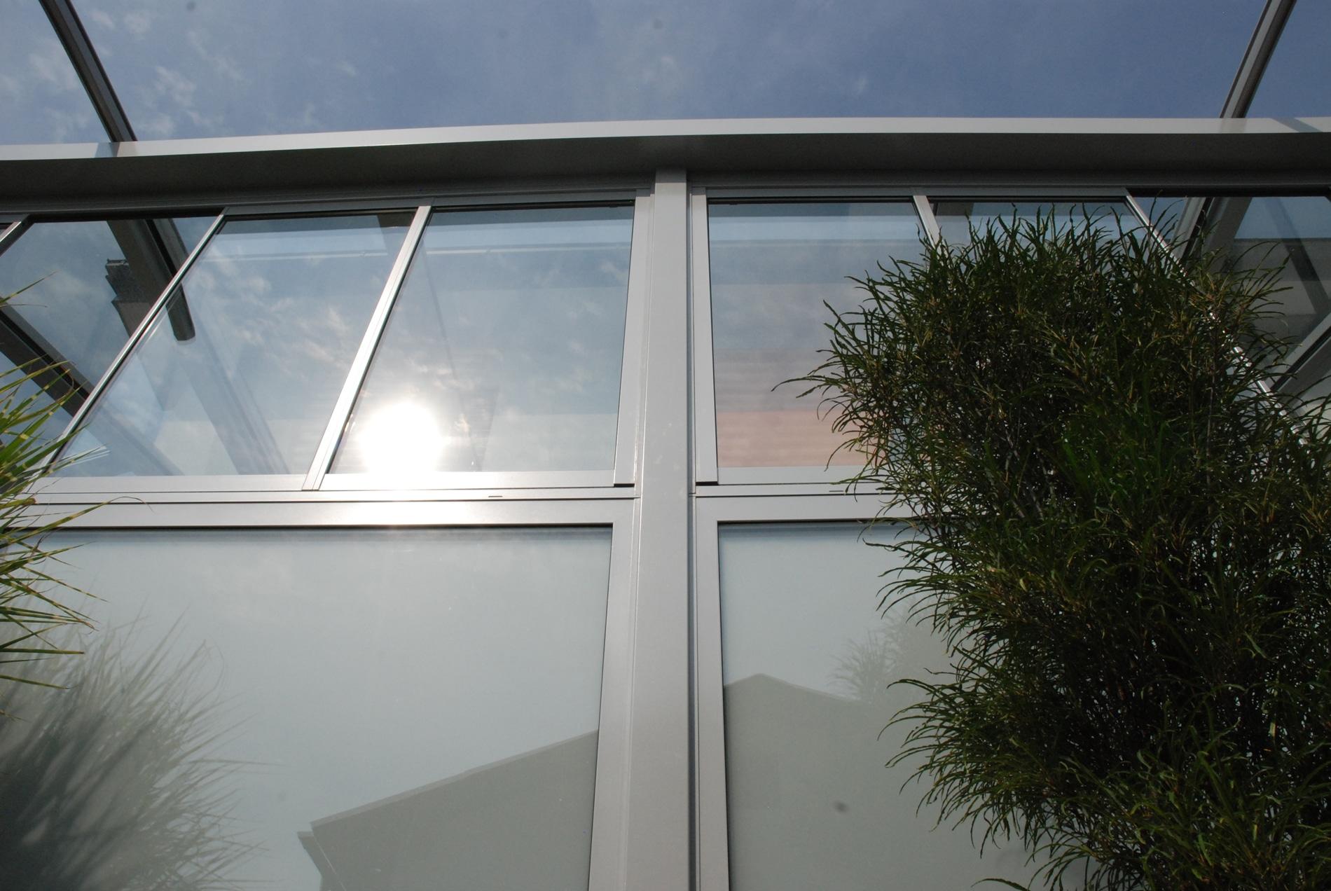 Glas-Faltwand für Wintergarten