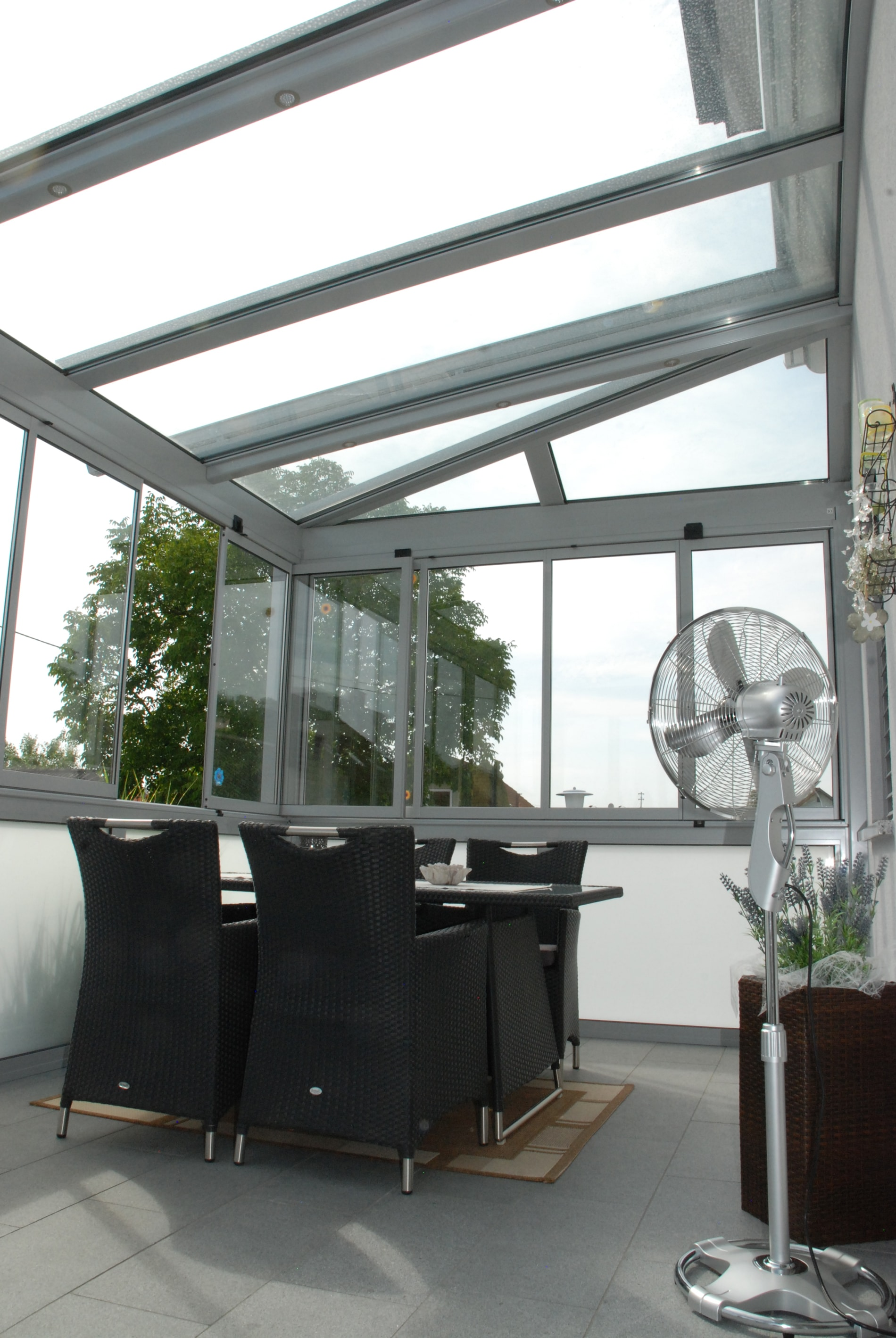 Glas Faltwand System Wintergarten