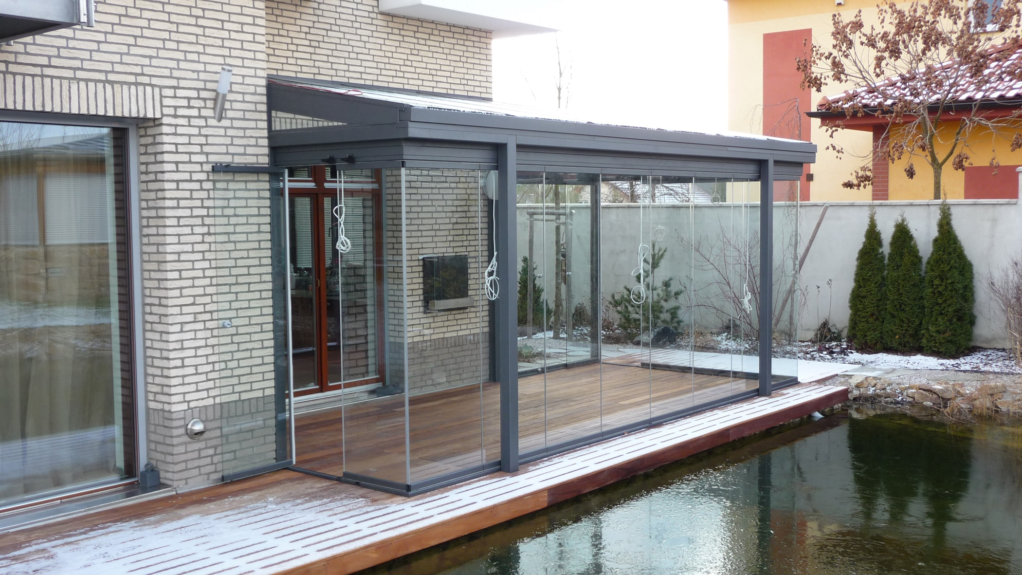 Glas Schiebewand für Wintergärten