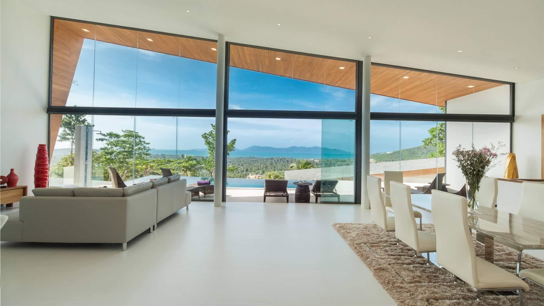 Glas-Schiebewand Referenzen Sunflex