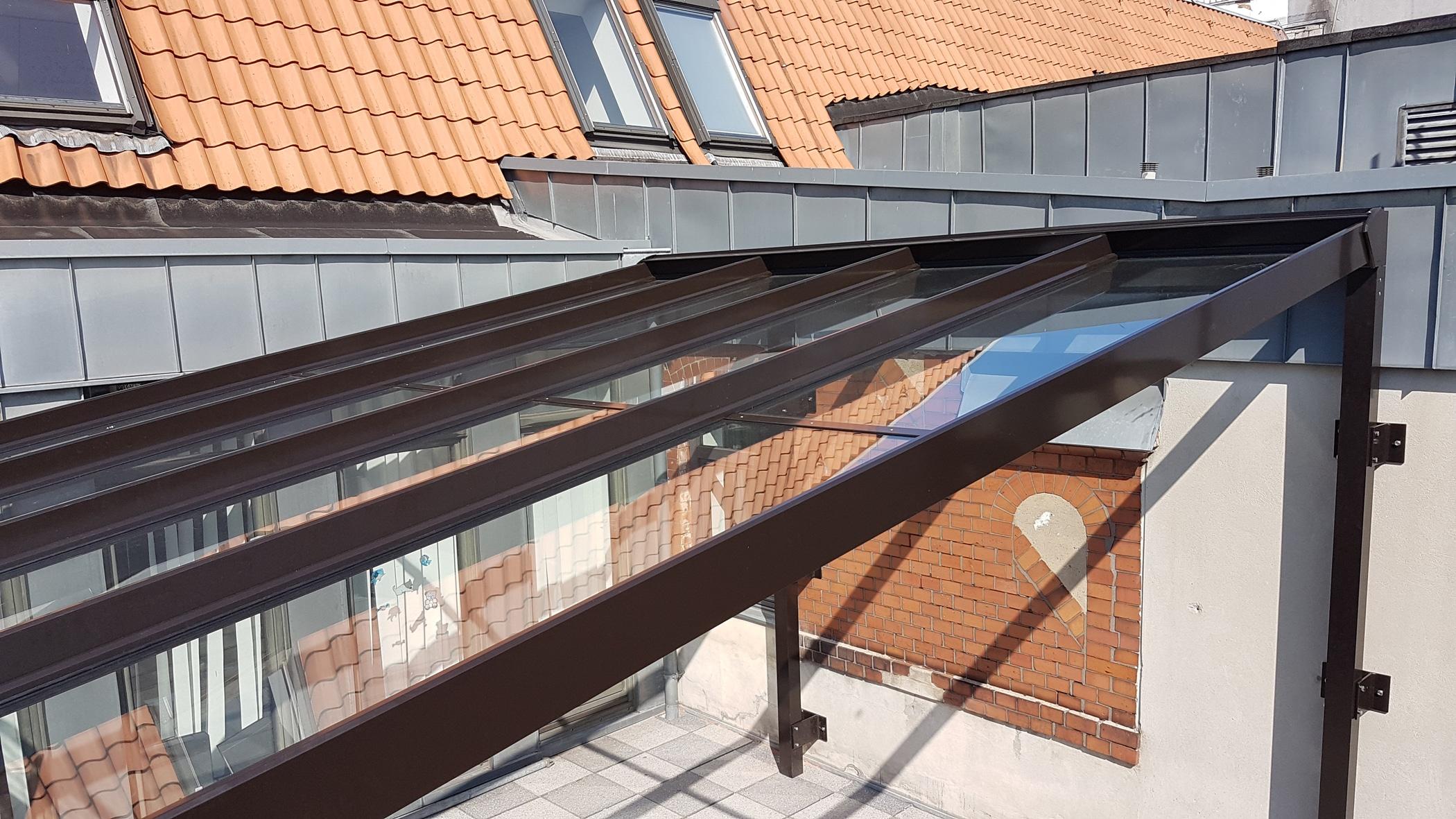 Glasdach für Dachterrassen nach Sondermaß
