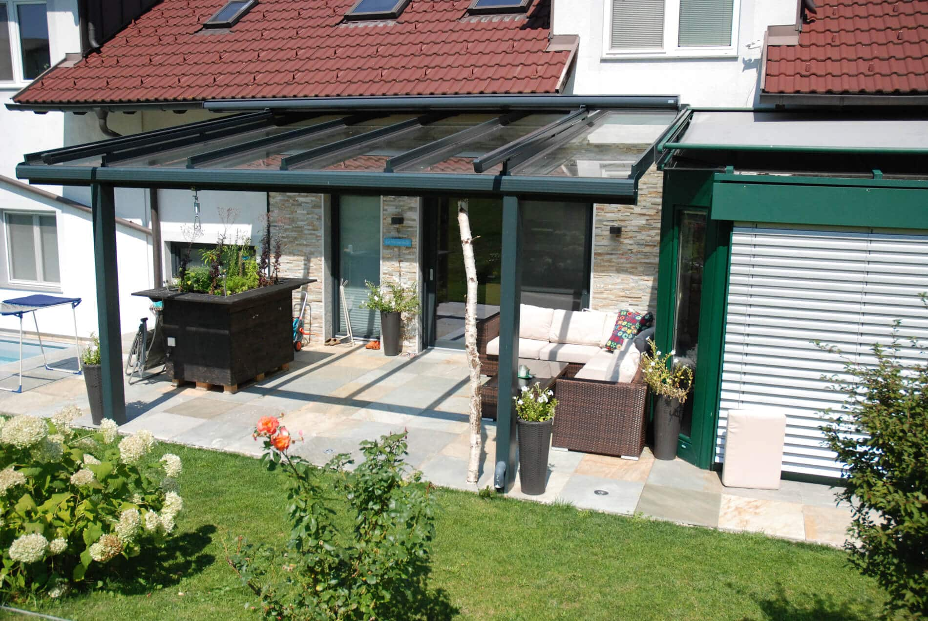 Glasdach mit Beschattung Oberösterreich