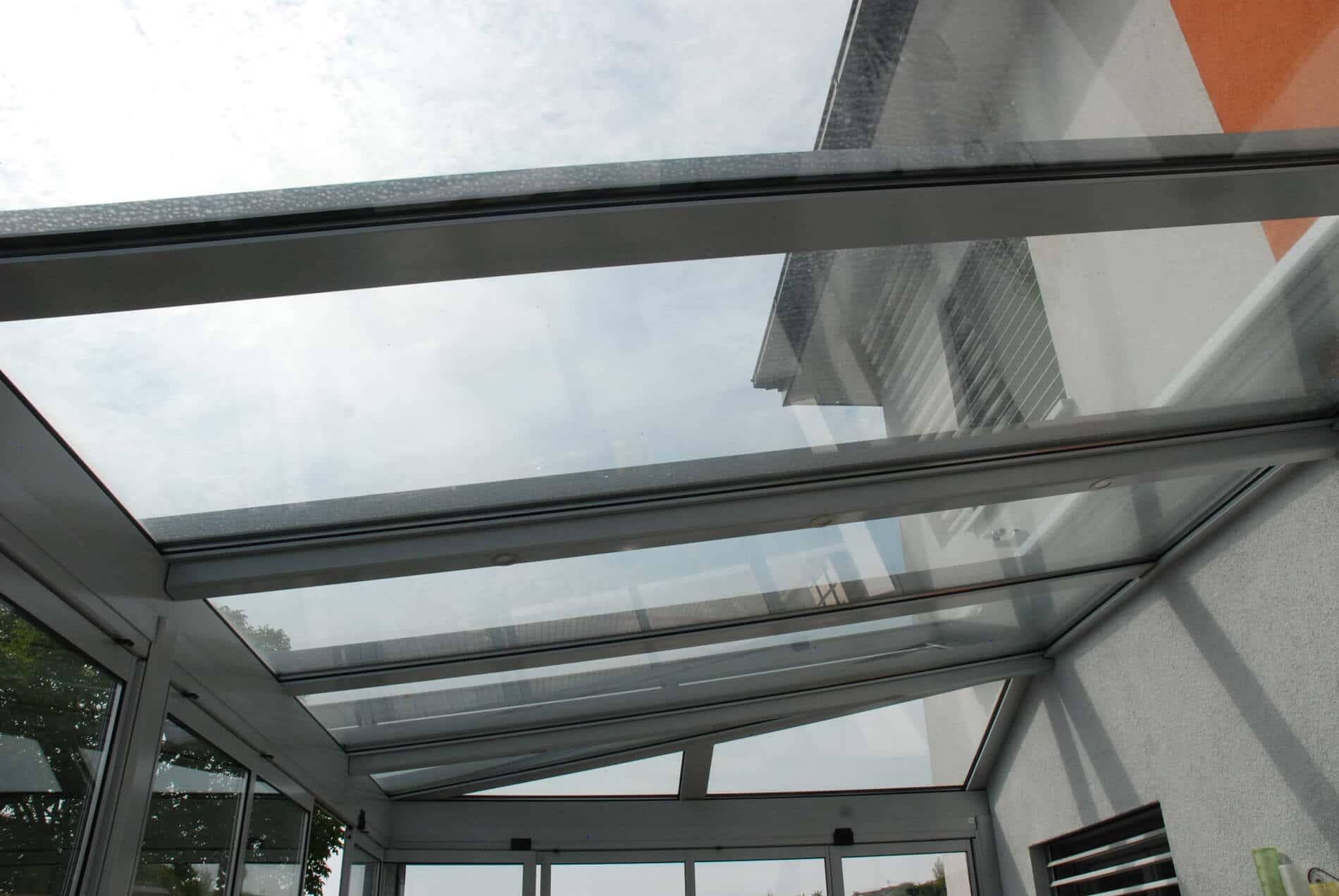 Glasdachkonstruktion Alu für Wintergarten