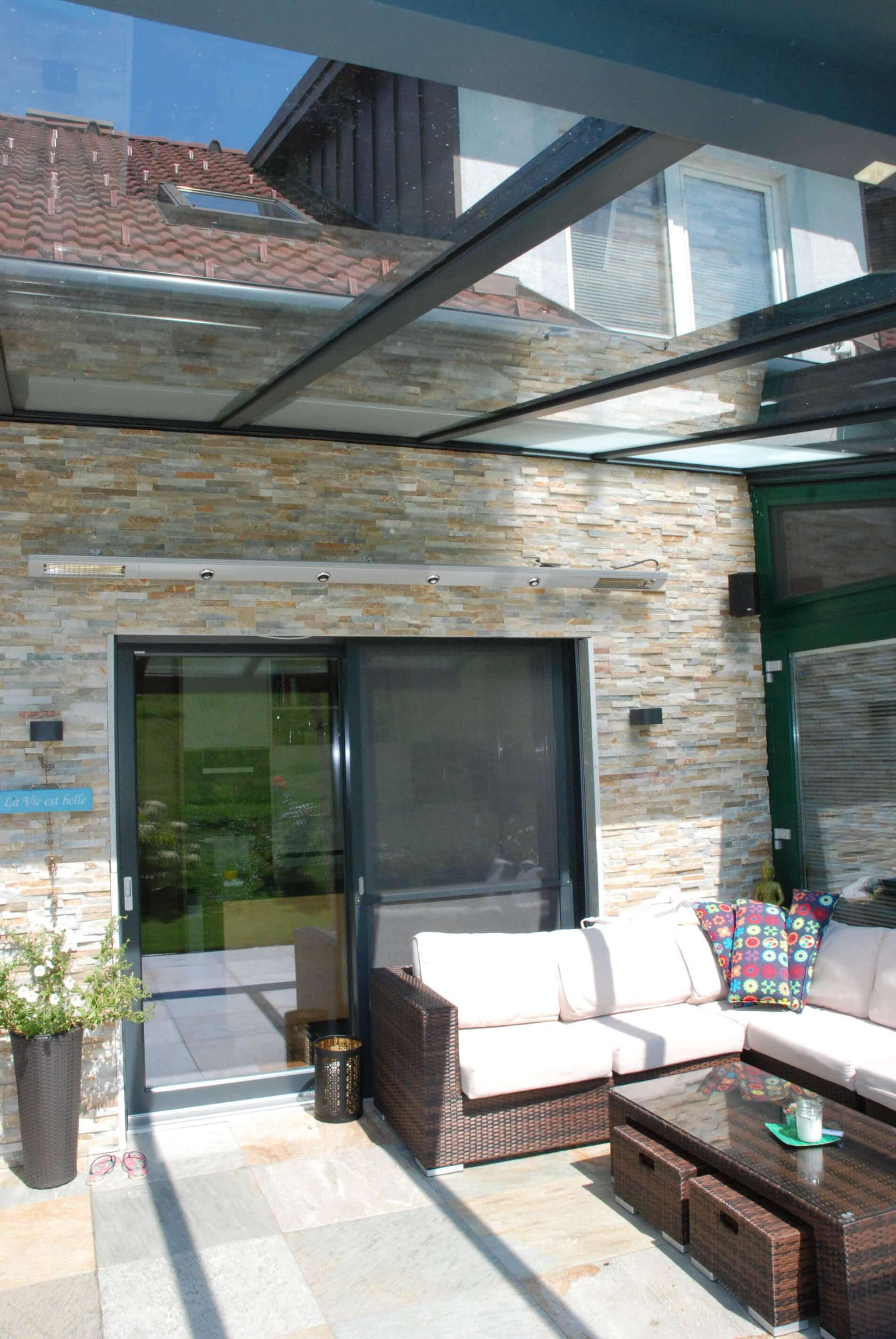 Glasdächer für Terrasse