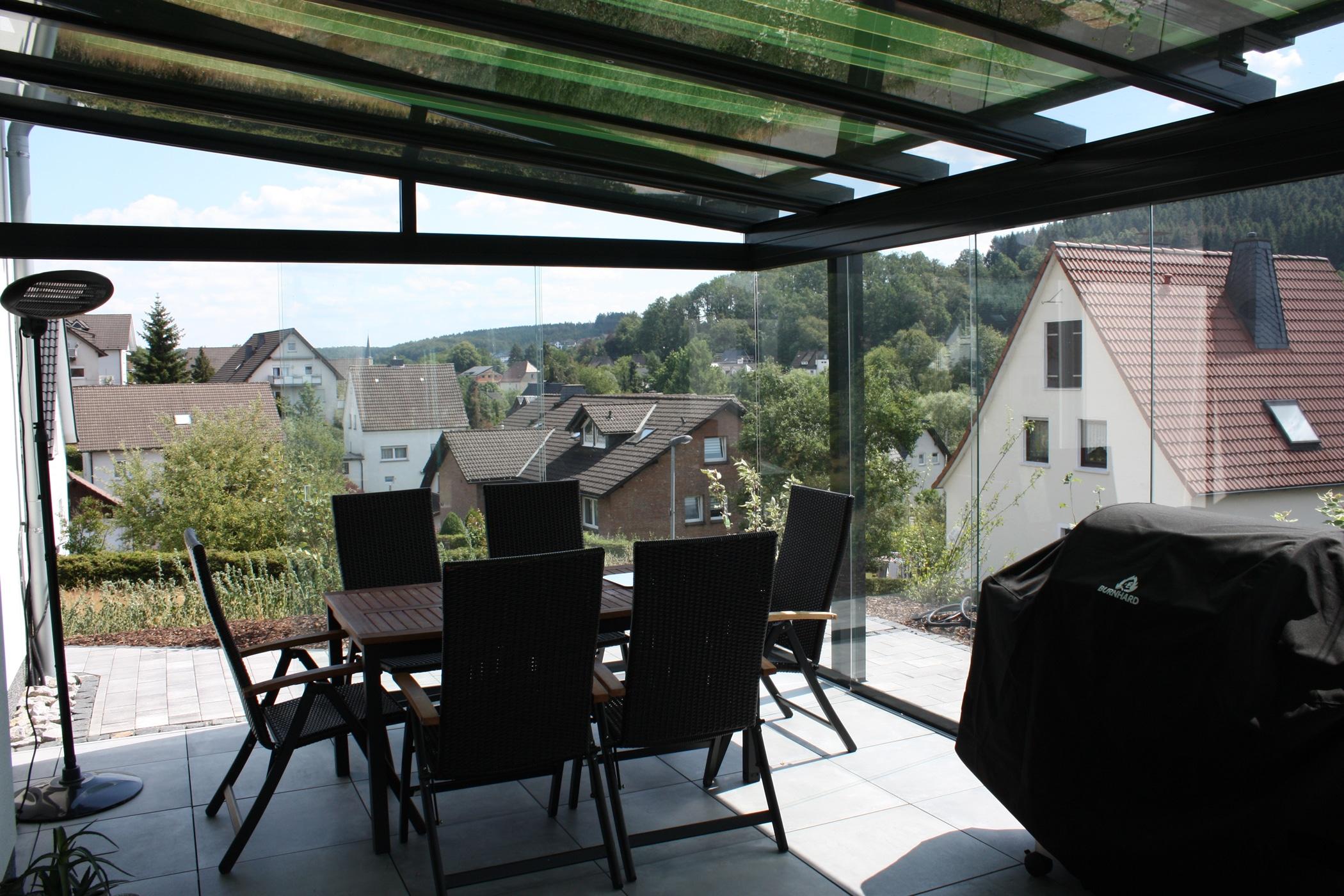 Glasdächer für Terrassen Maßanfertigung
