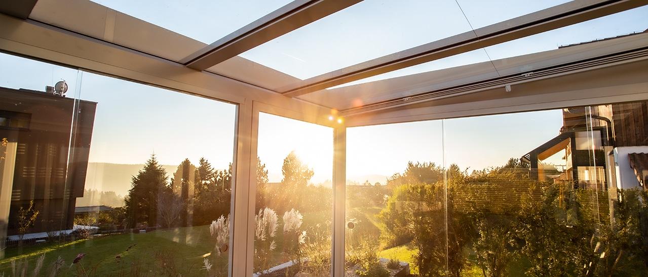 Glasdächer Überdachung - Wintergärten