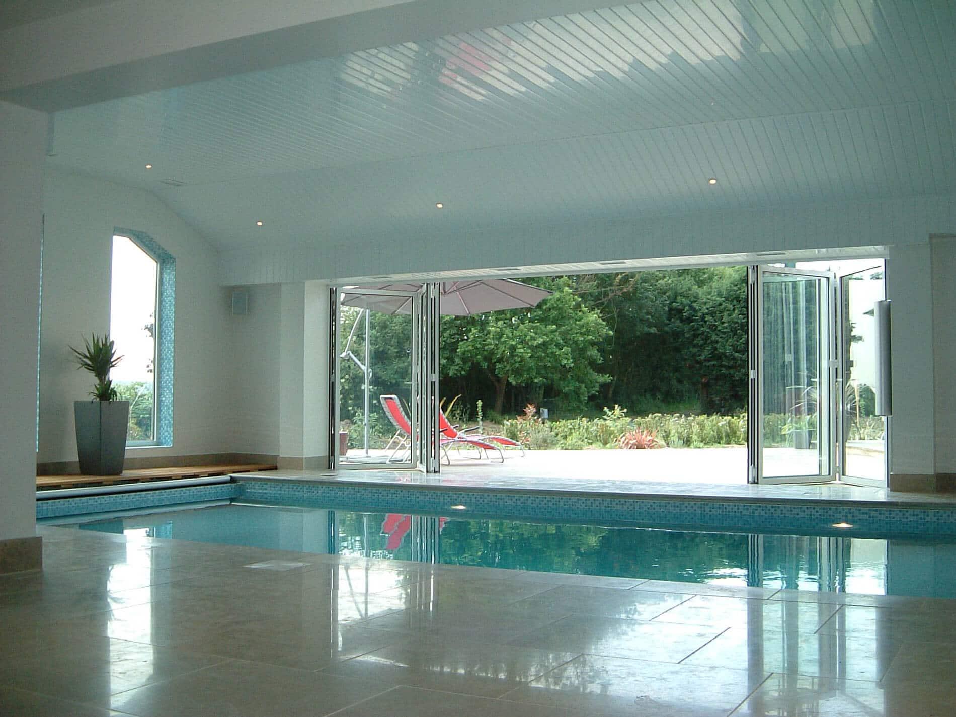 Glasfaltelemente Poolhaus Sunflex SF 55