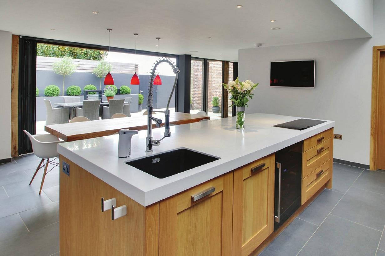 Glasfalttüren für Küchen