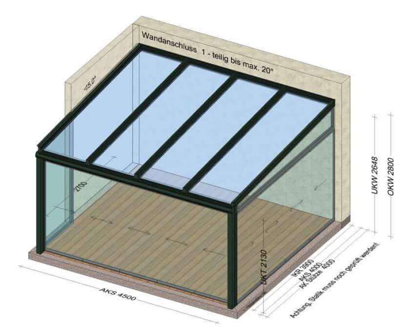 Glashaus Skizze
