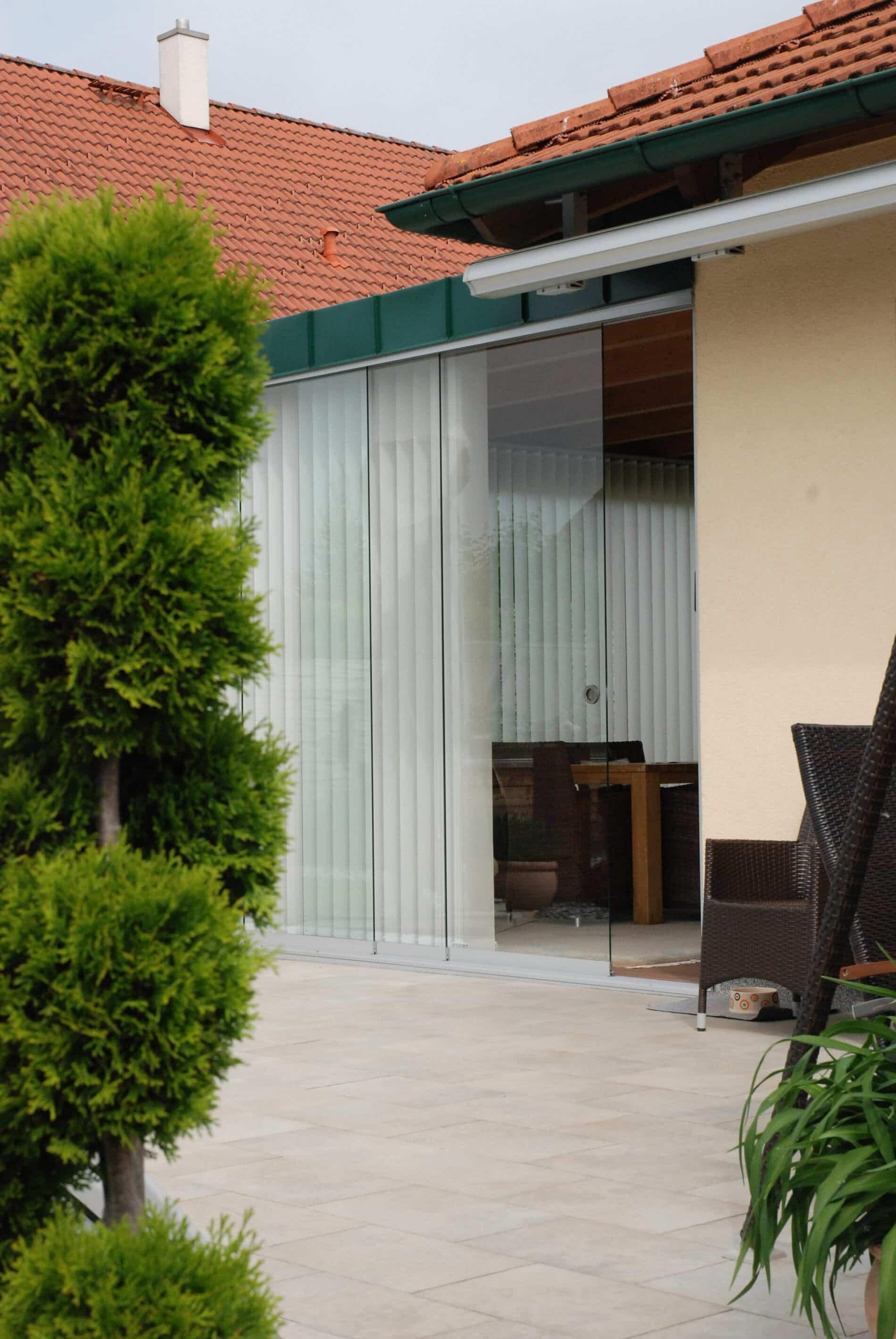 Glasschiebeelemente Wintergarten