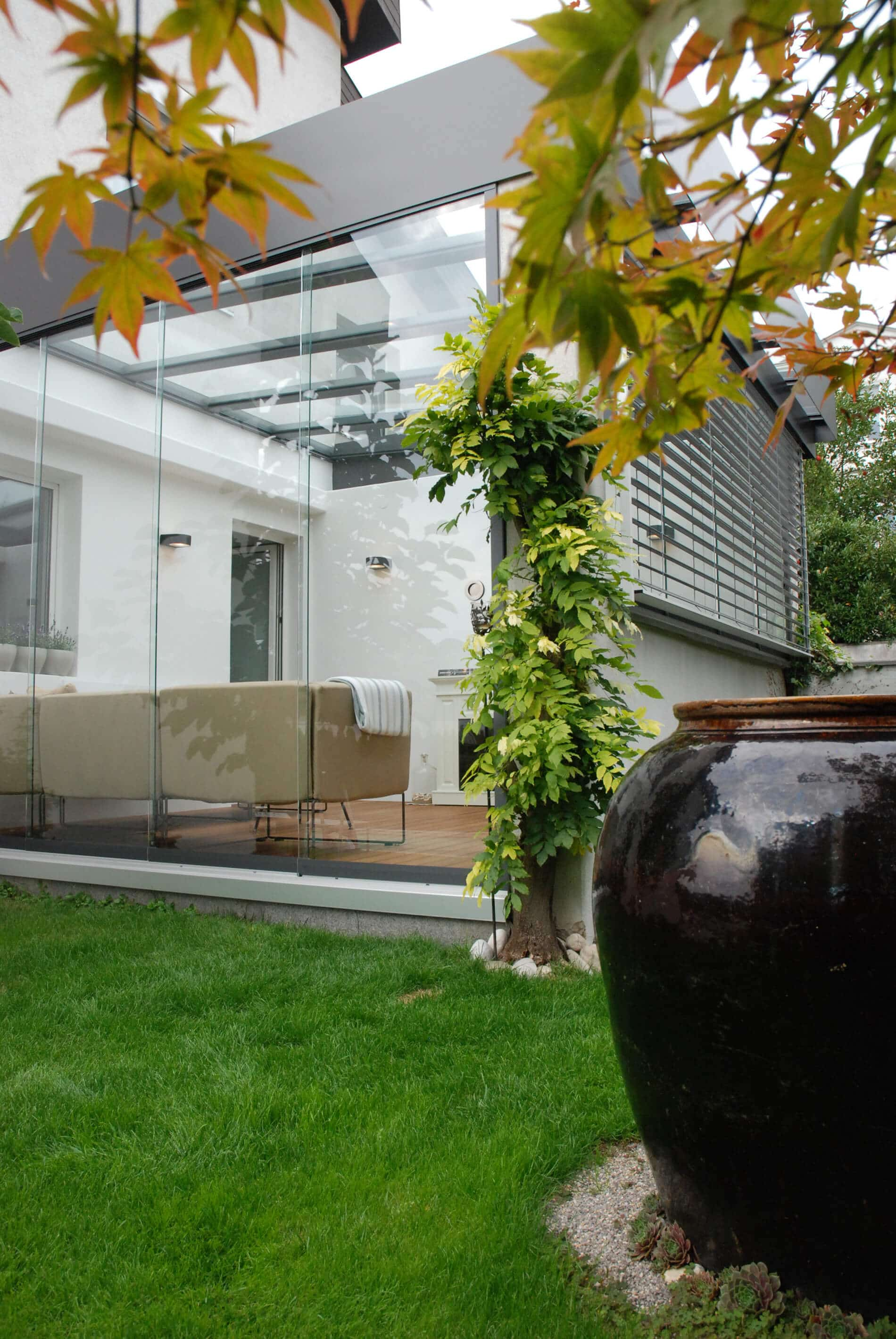 Glasschiebetür Sondermaß für Wintergarten