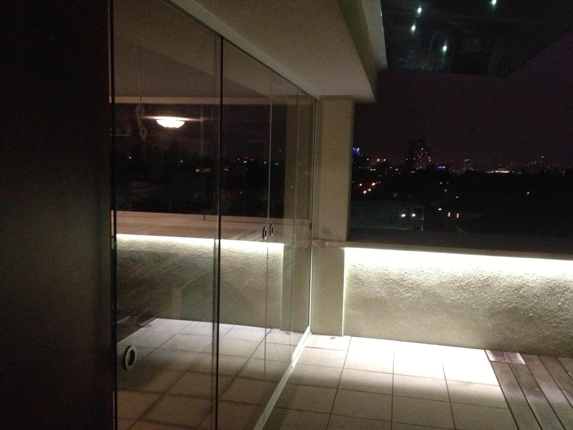 Glasschiebetüren für Dachterrasse