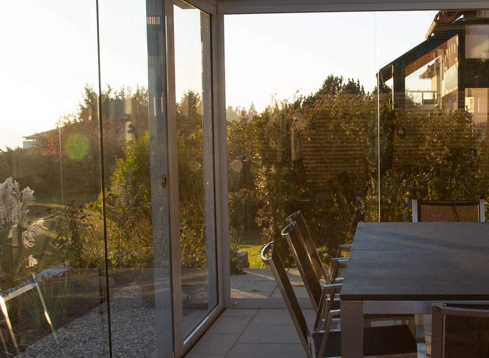 Glasschiebewände außen - Oberösterreich