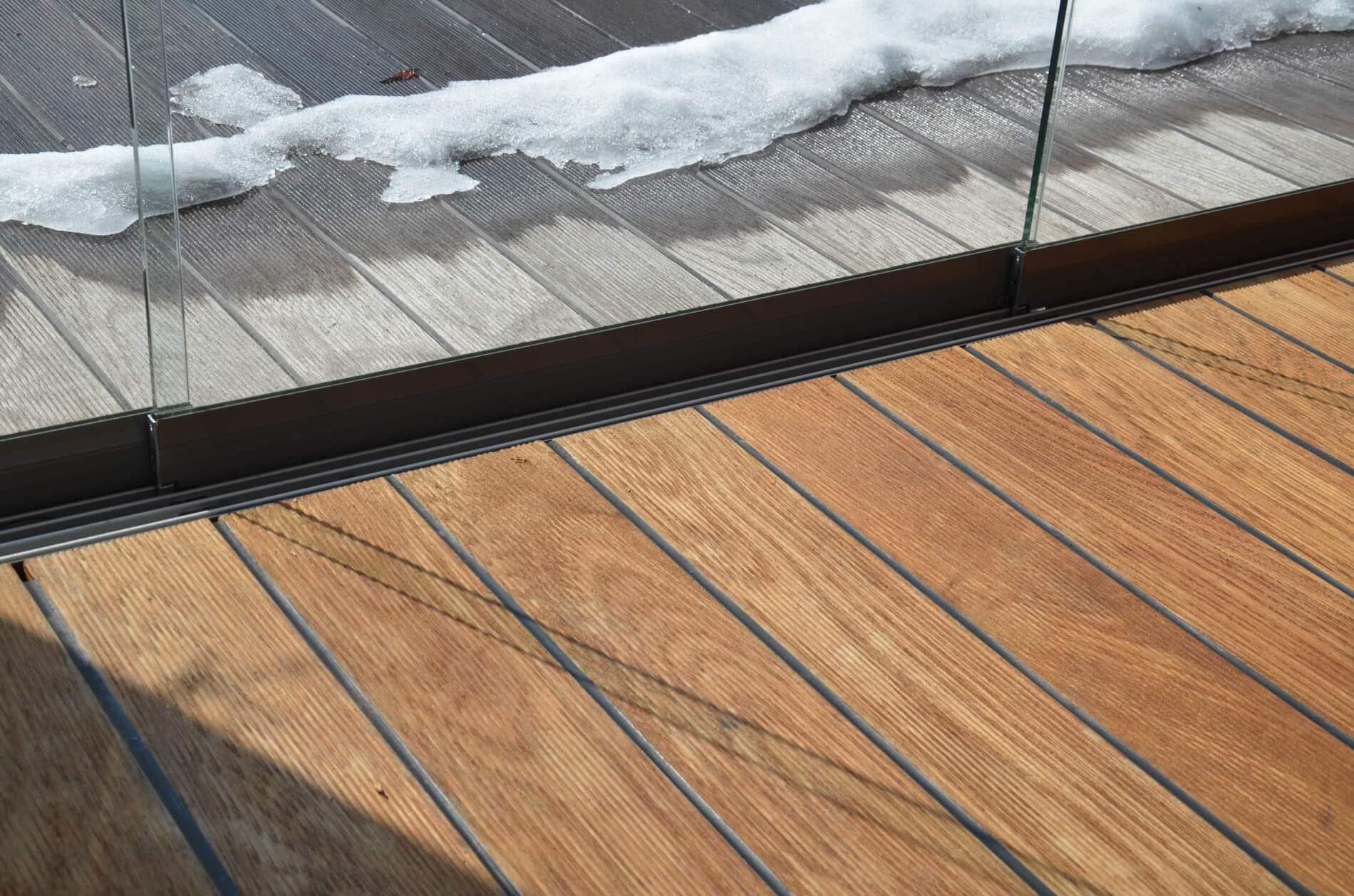 Glasschiebewände barrierefrei für Terrasse