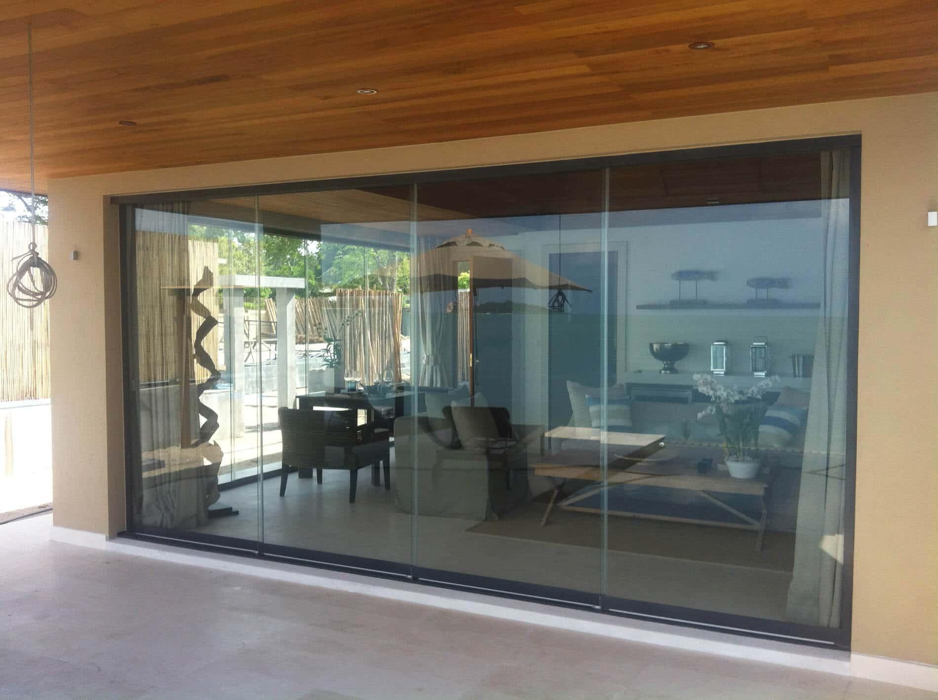 Glasschiebewände für Anbau Terrasse - Nurglas