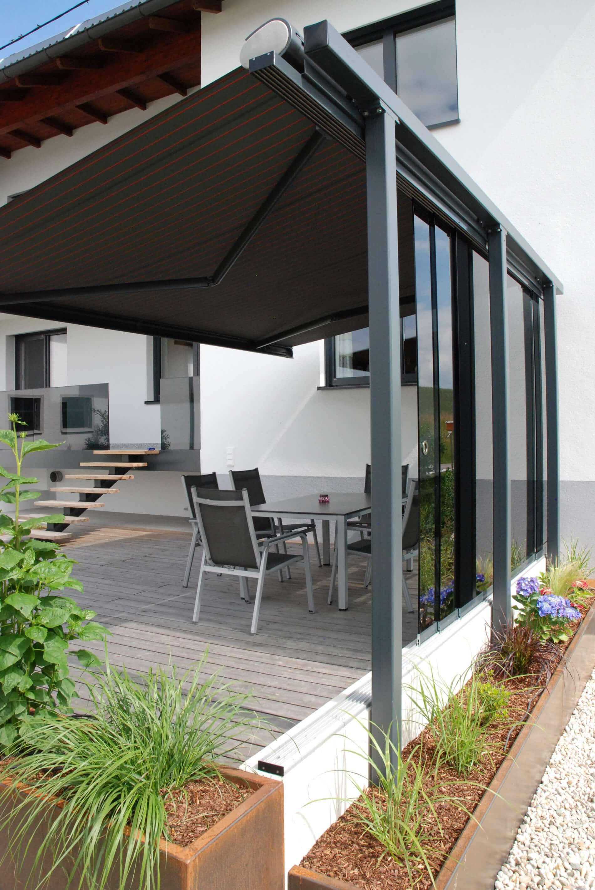 Glasschiebewand aussen - Terrassen