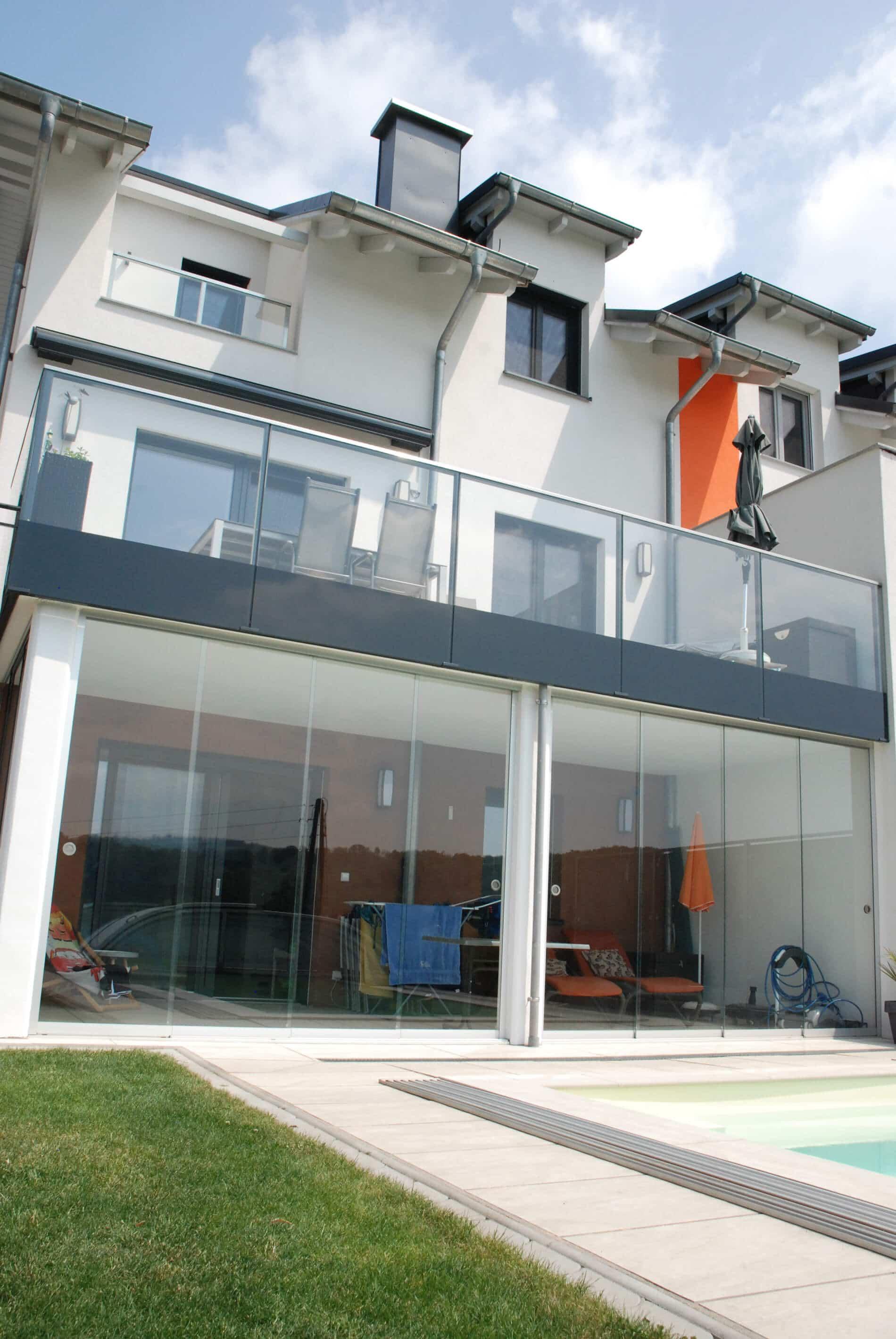 Glasschiebewand außen - Oberösterreich