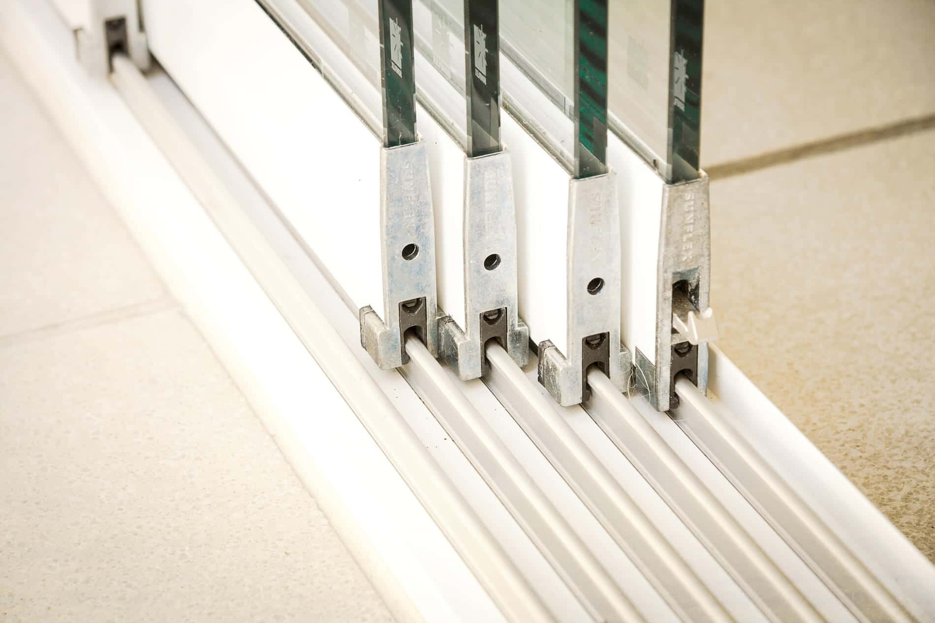 Glasschiebewand Detail