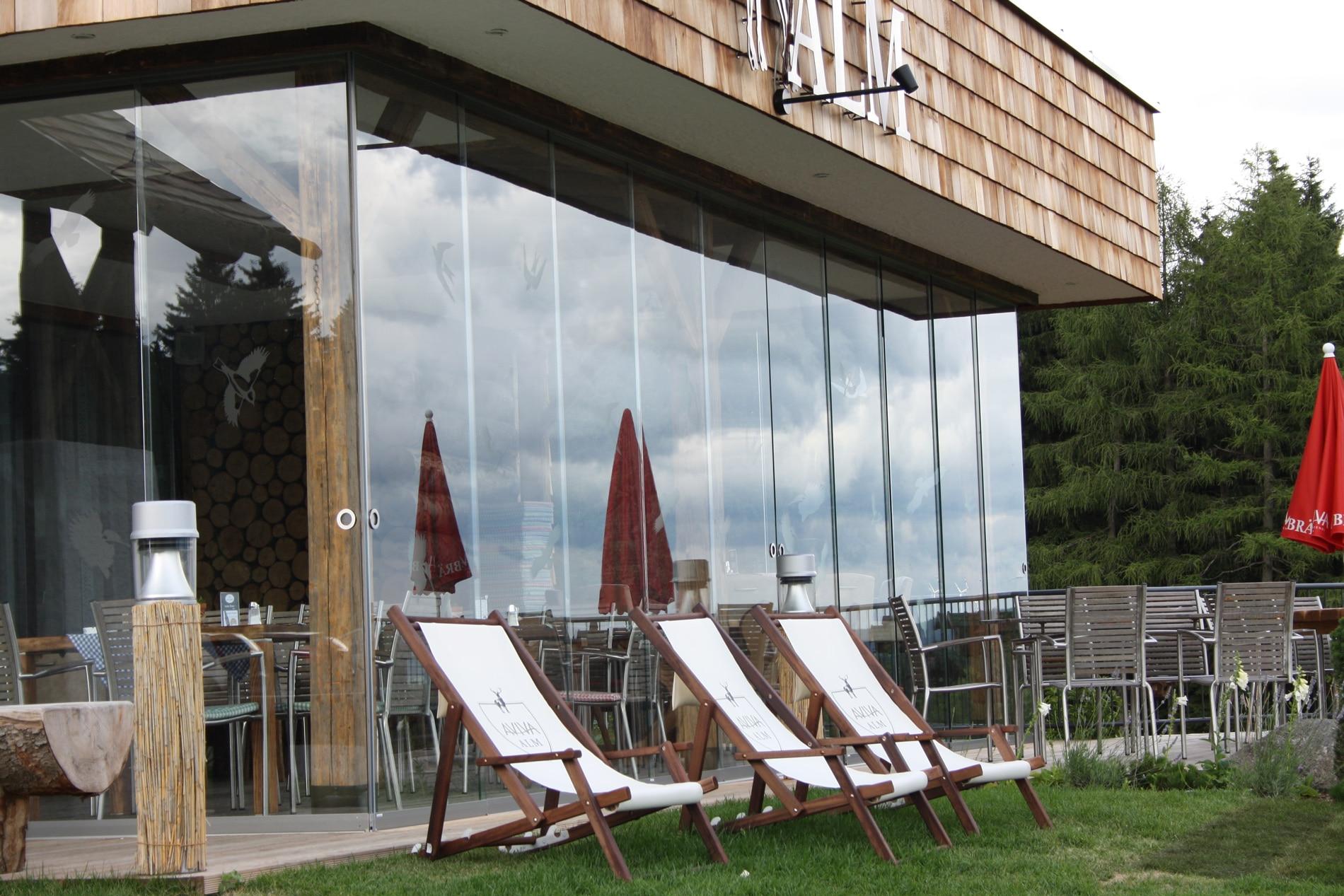 Glasschiebewand Terrasse mit Montage