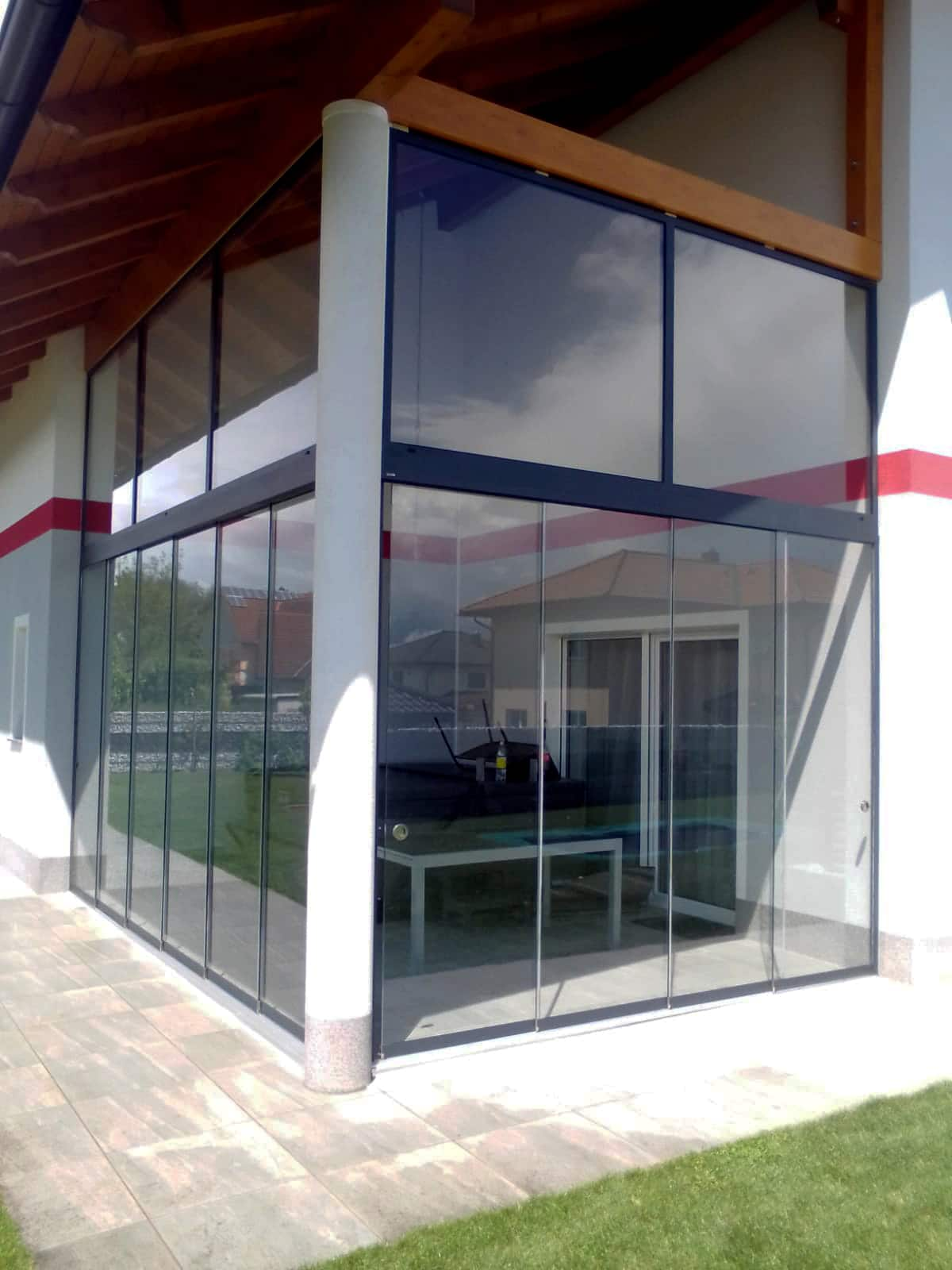 Glasschiebewand Terrasse nach Maß - in OÖ