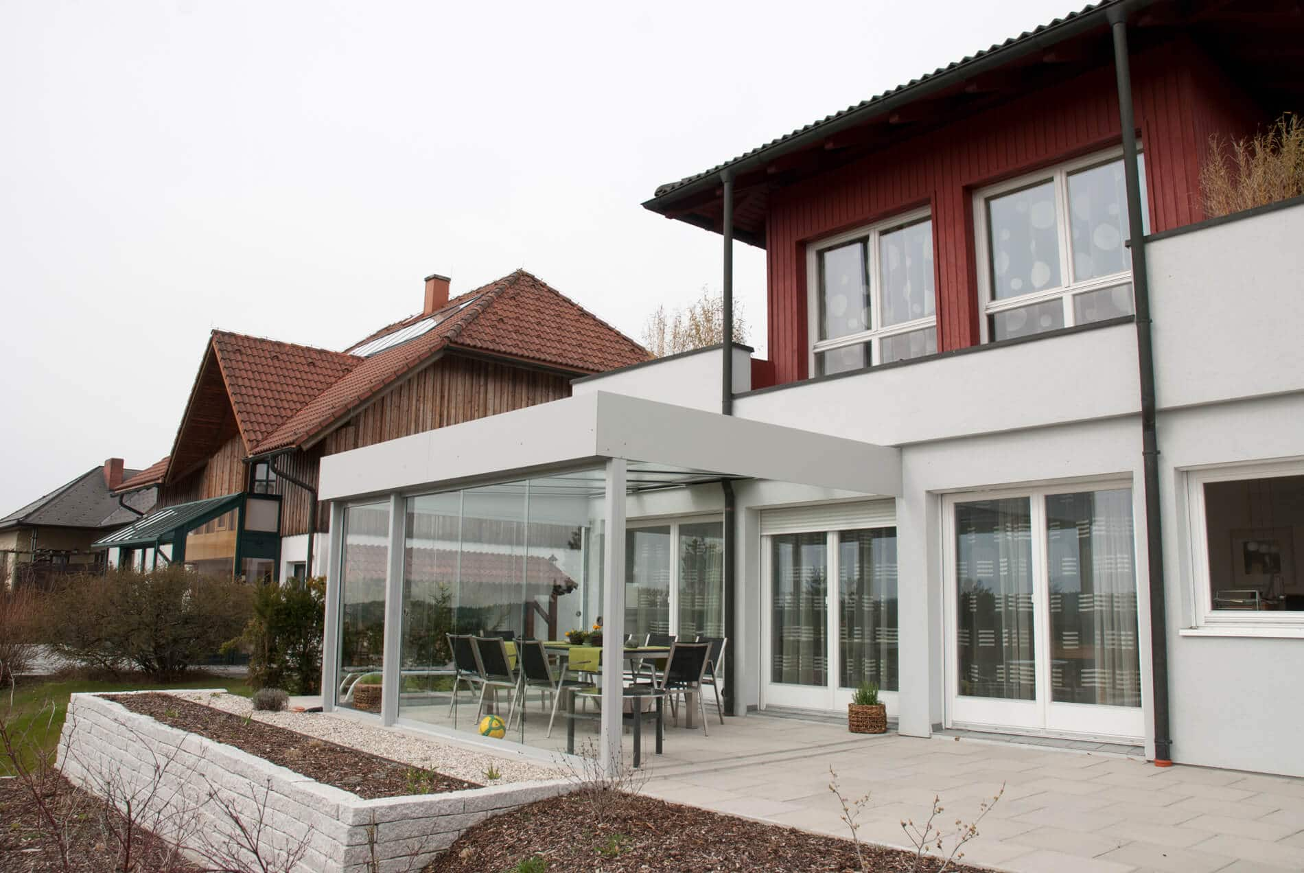Glasschiebewand Wintergarten