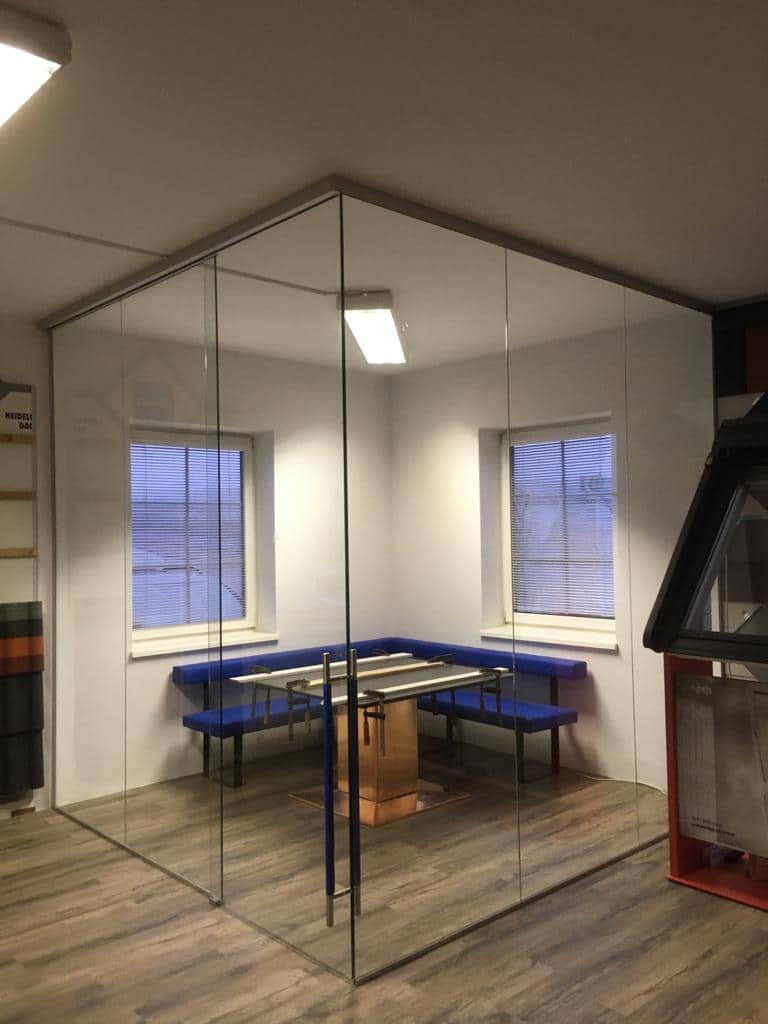 Glastrennwände für Besprechung und Home-Office
