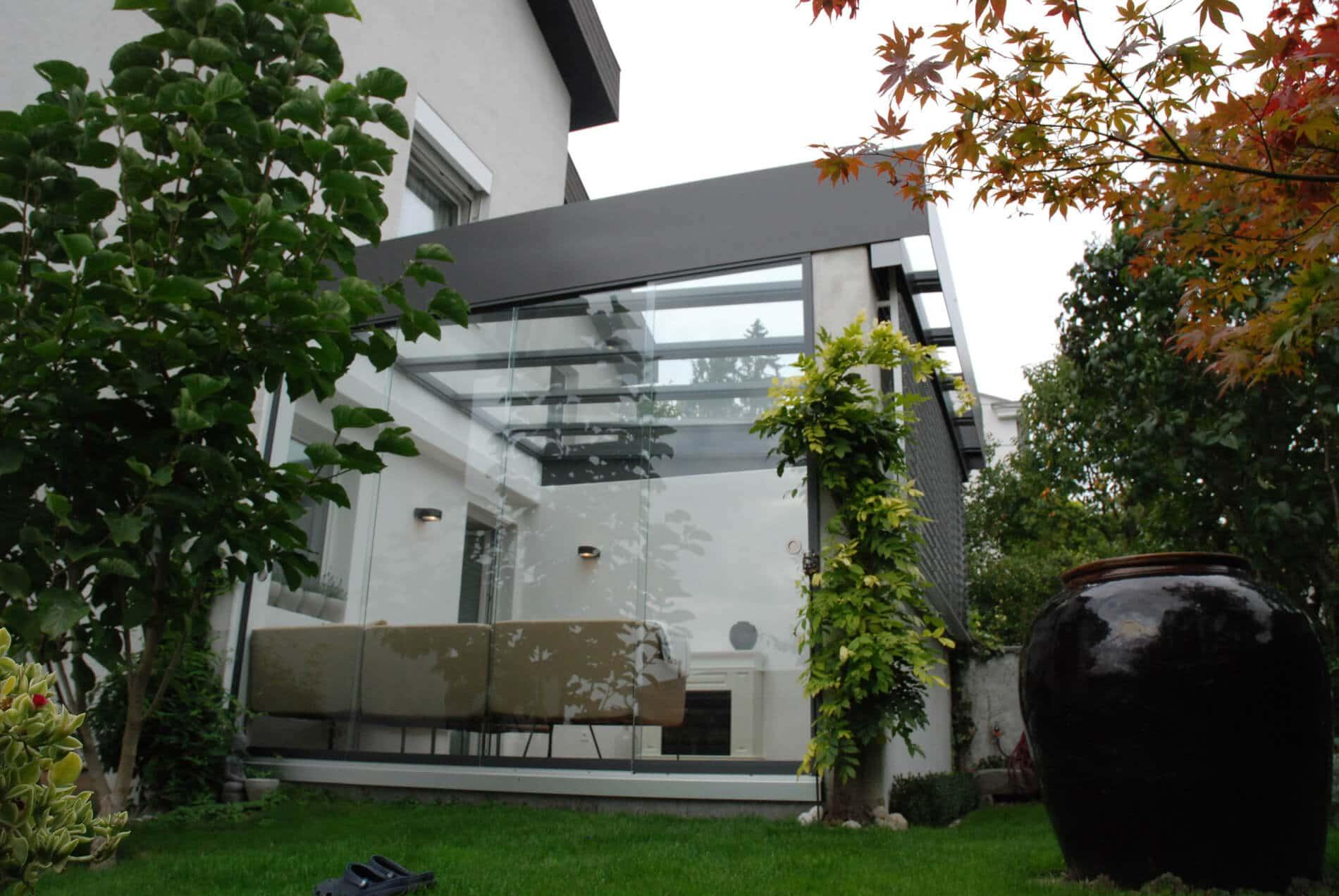 Glastüren nach Maß außen für Wintergarten