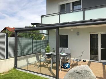 Glasüberdachung für Terrasse