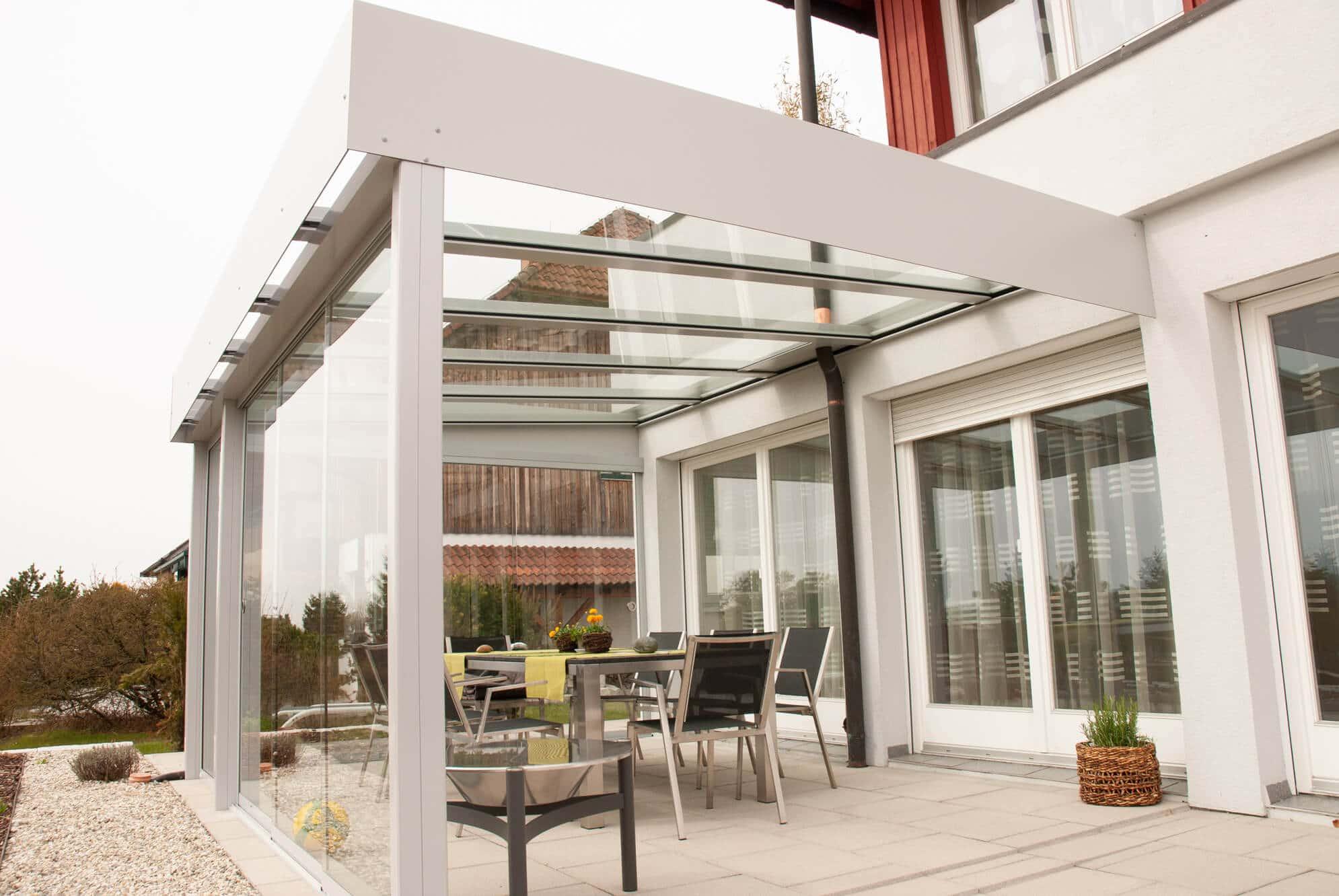Glasüberdachungen für Terrassen