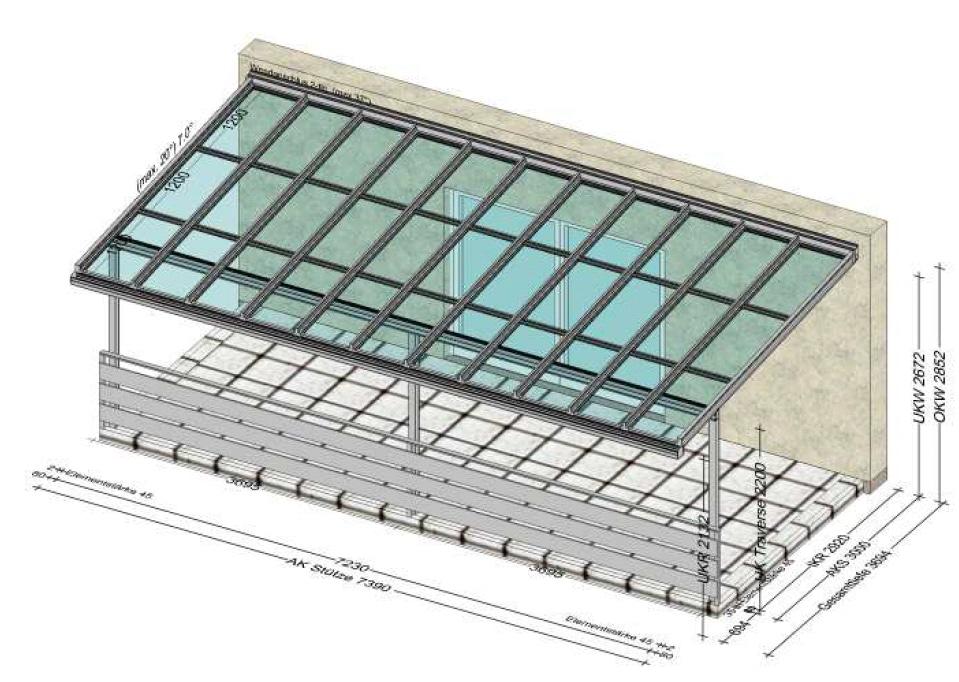 Grosse Terrassenüberdachung auf einer bestehenden Terrasse