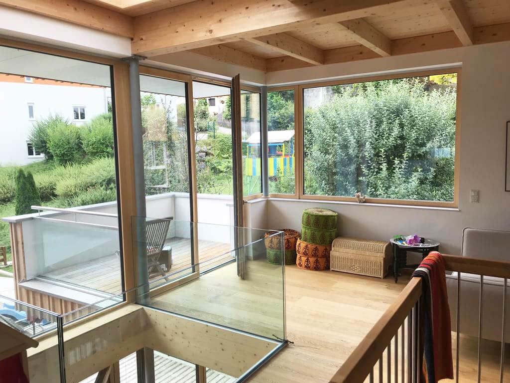 Holz Aluminium Balkontüre für Anbauten