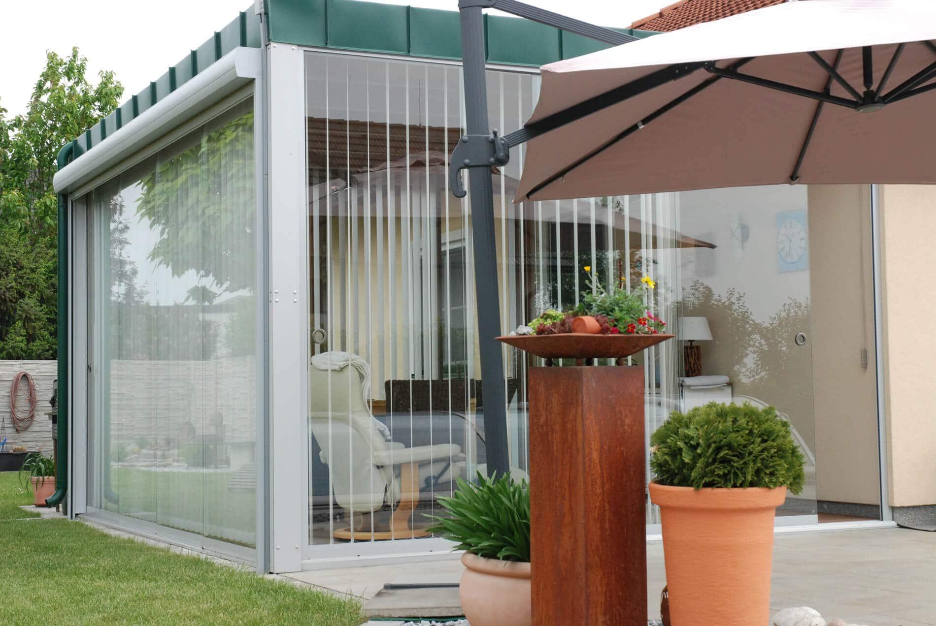 Holz Aluminium Wintergärten nach Maß mit Schiebesystemen