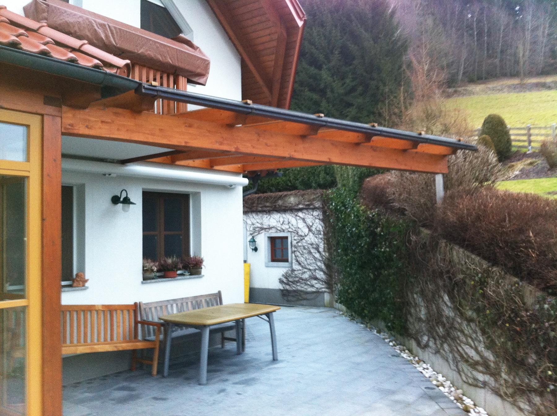 Holz Überdachung für Terrasse