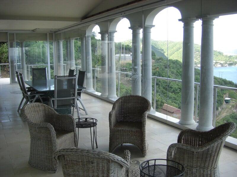 Horizontal-Schiebeelemente für Terrasse