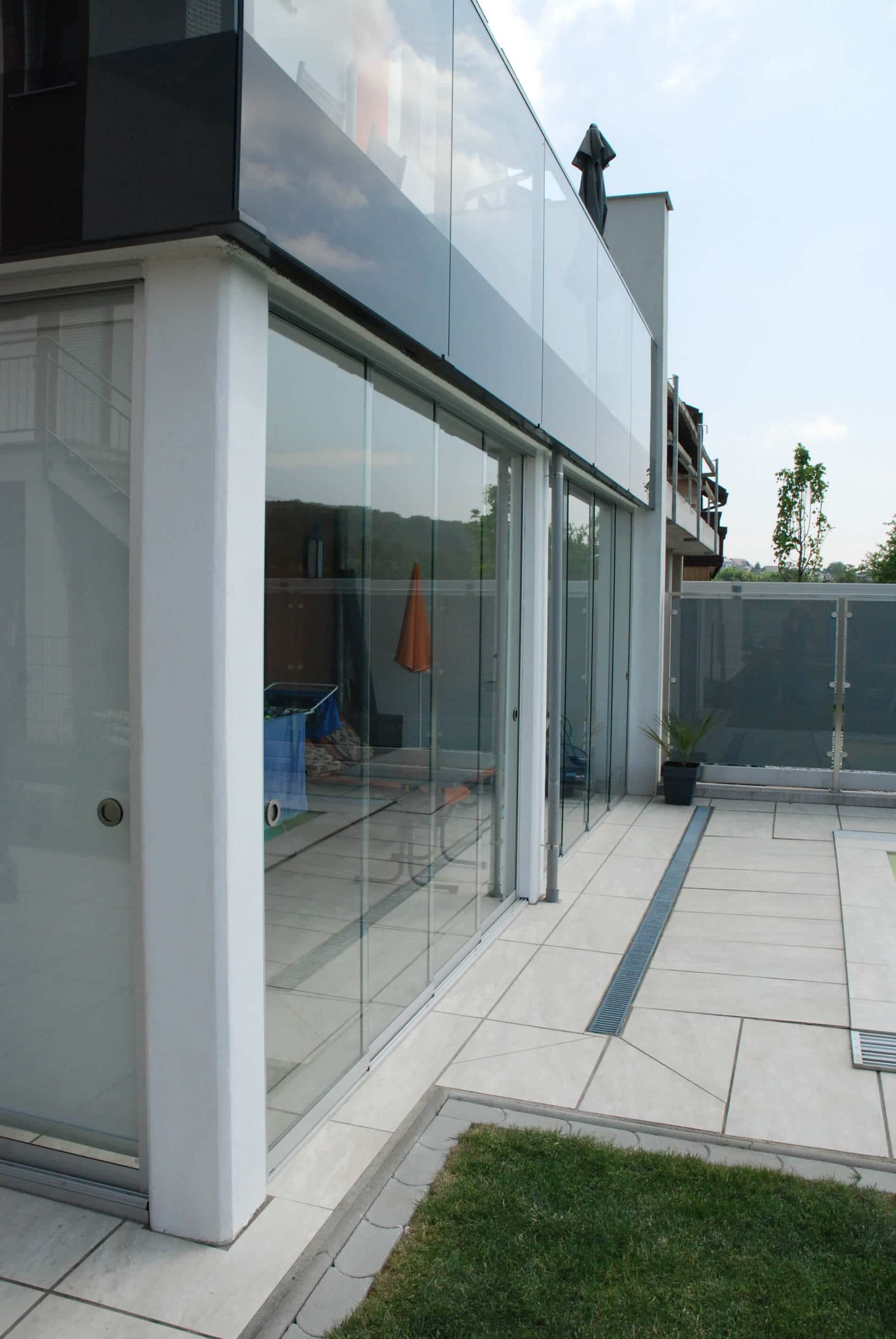 Horizontale Schiebewandsystem Glas