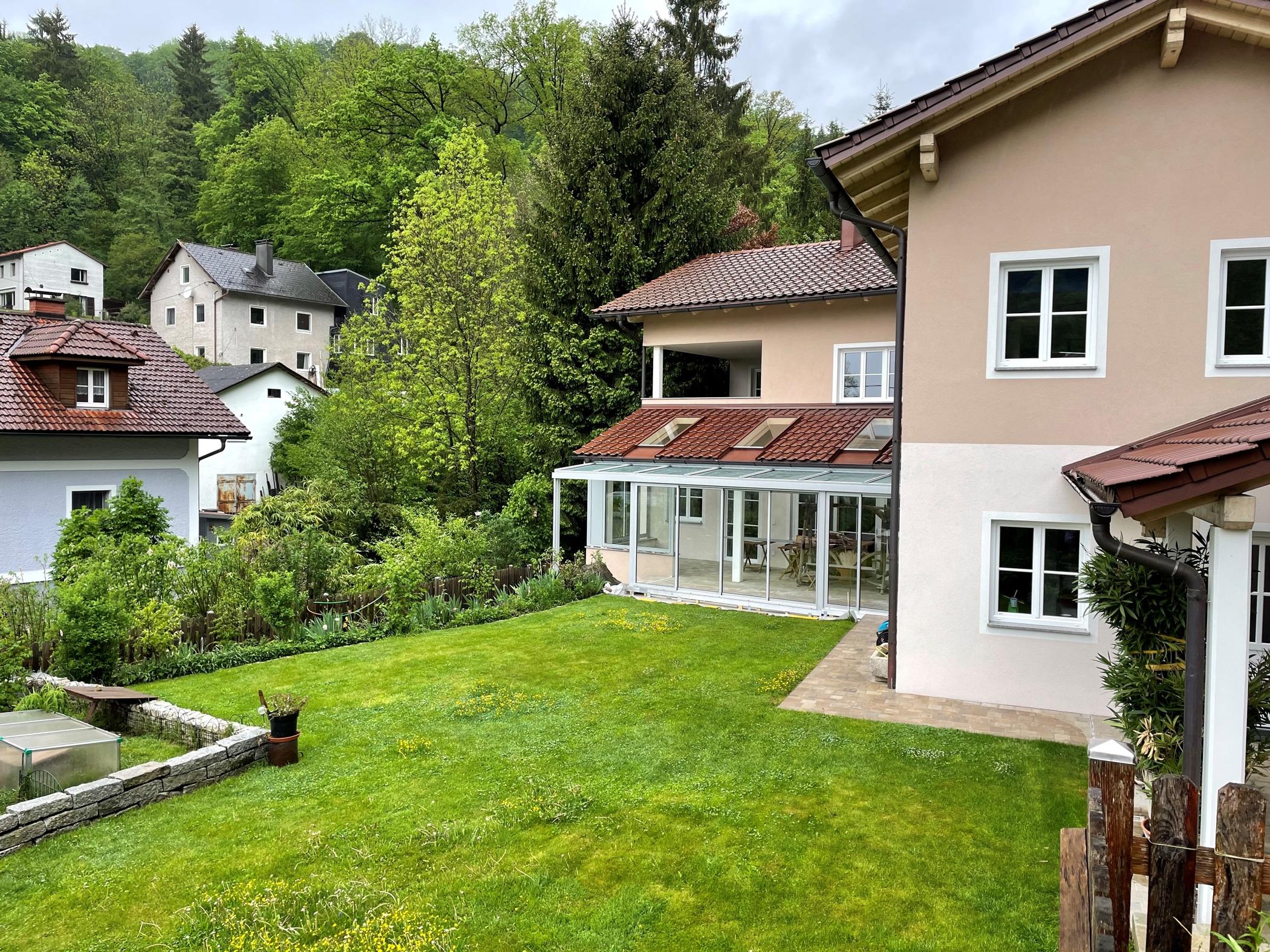 Idee für Wintergarten Anbau auf der Terrasse