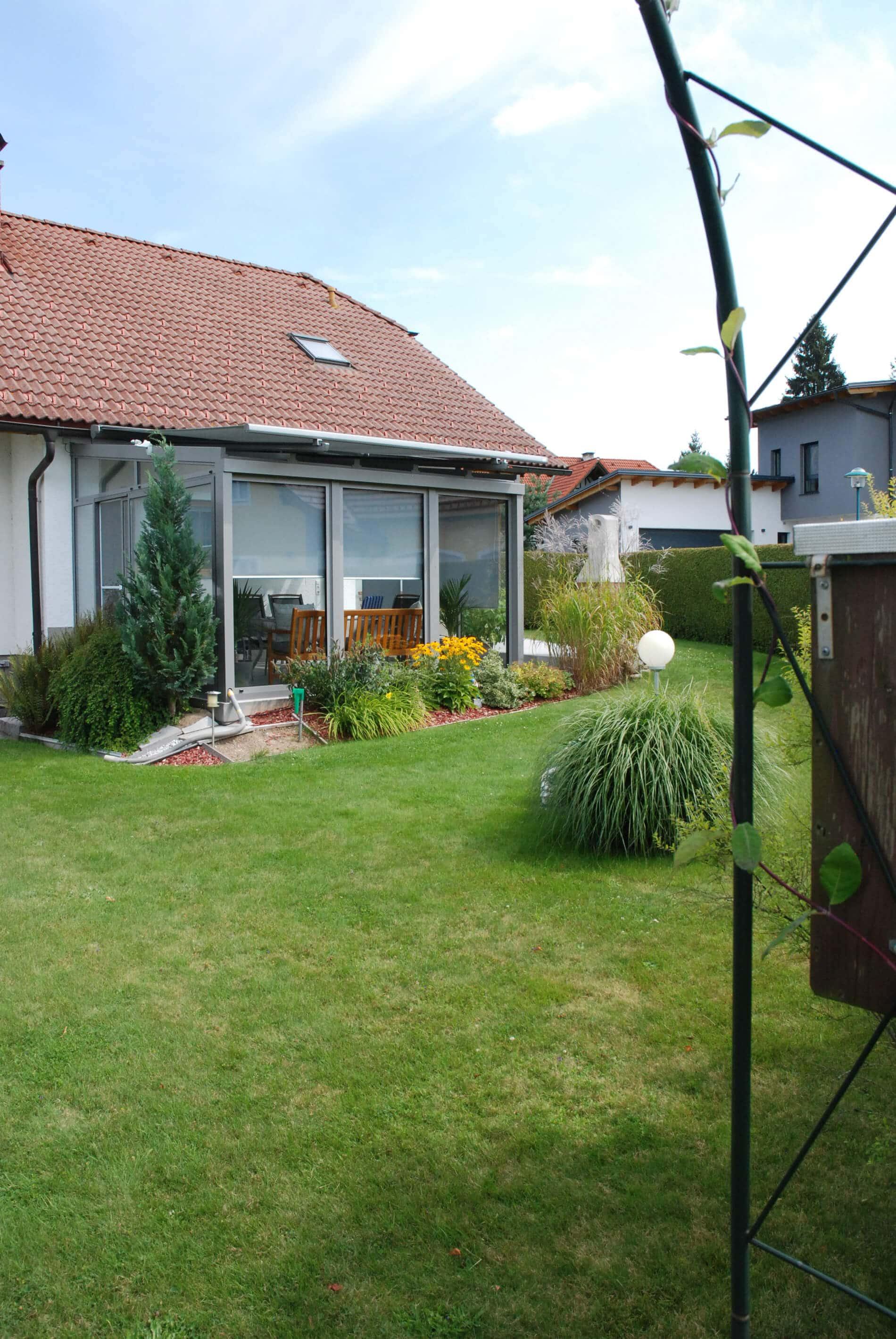 Kalter Anbau Wintergarten mit Pultdach