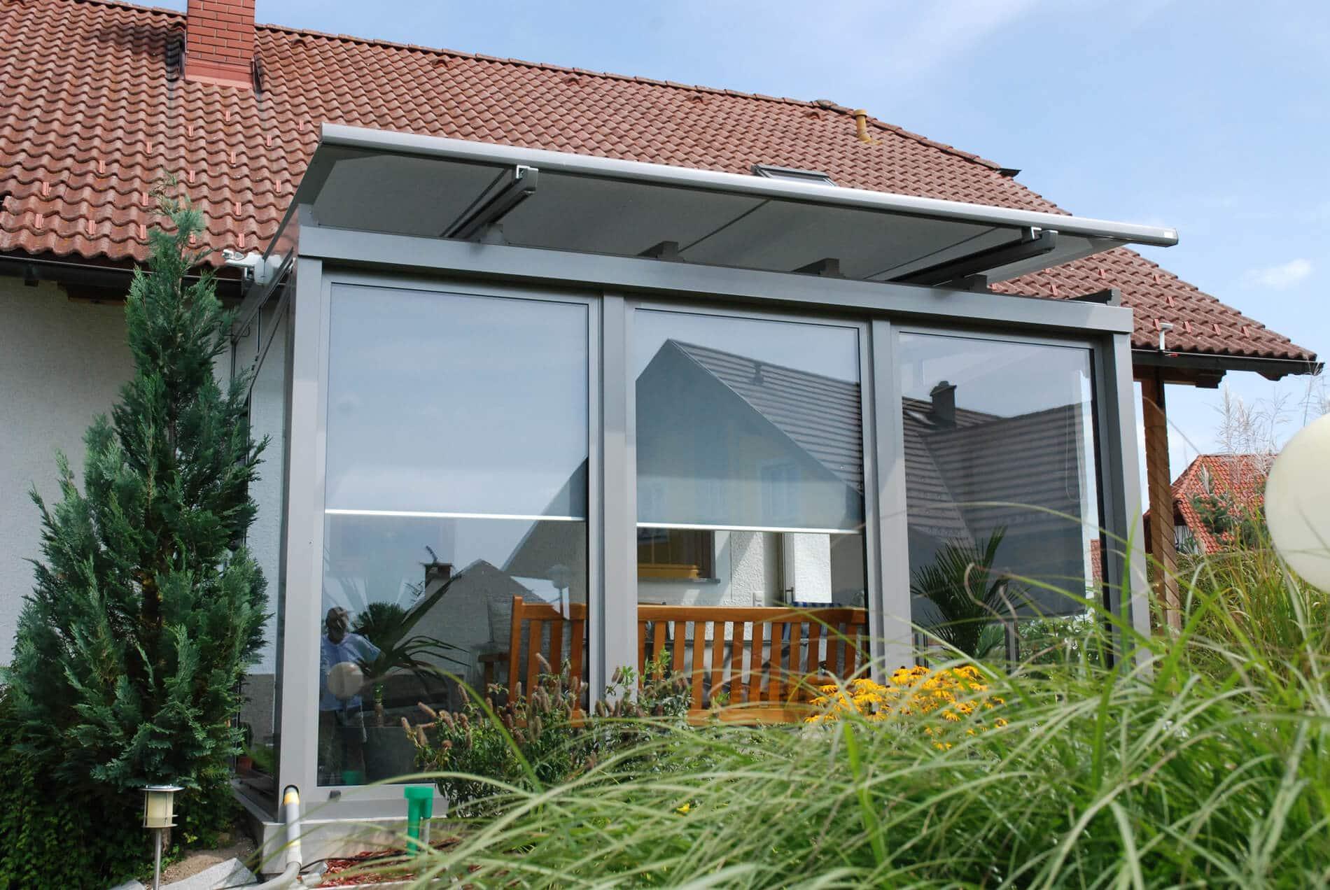kalter Wintergarten Anbau Aluminium Glas