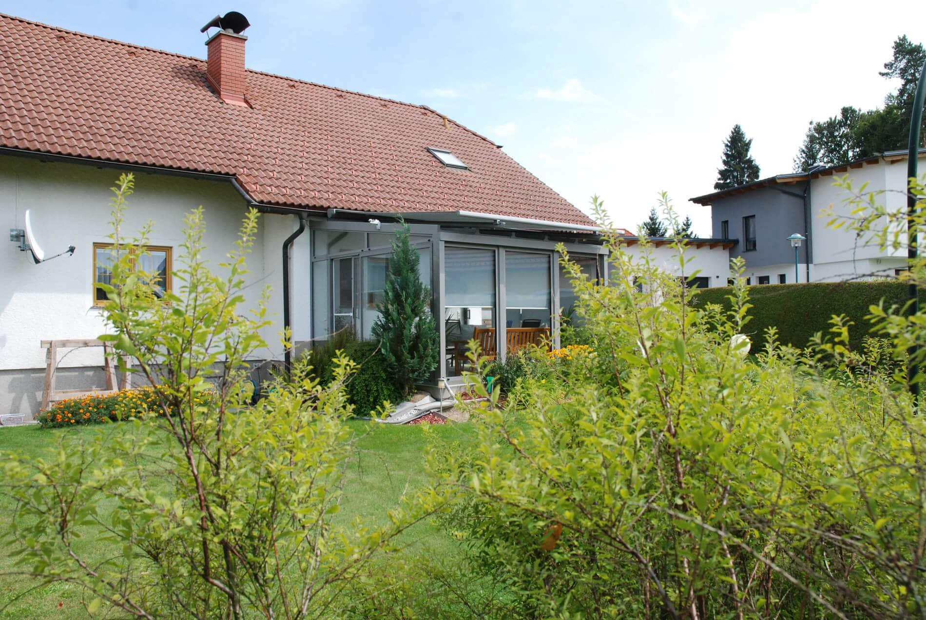 Kalter Wintergarten Terrasse