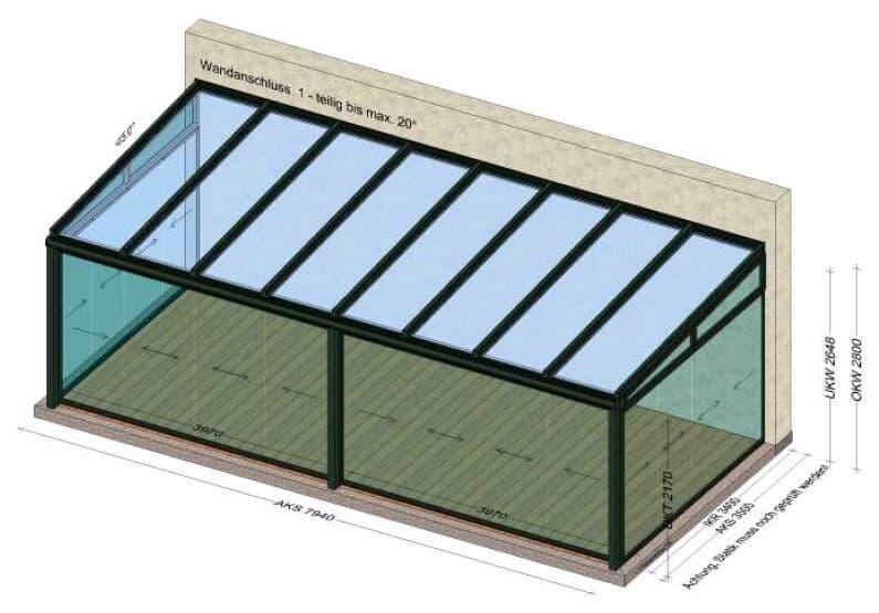 Kaltwintergärten nach Maß - Planung