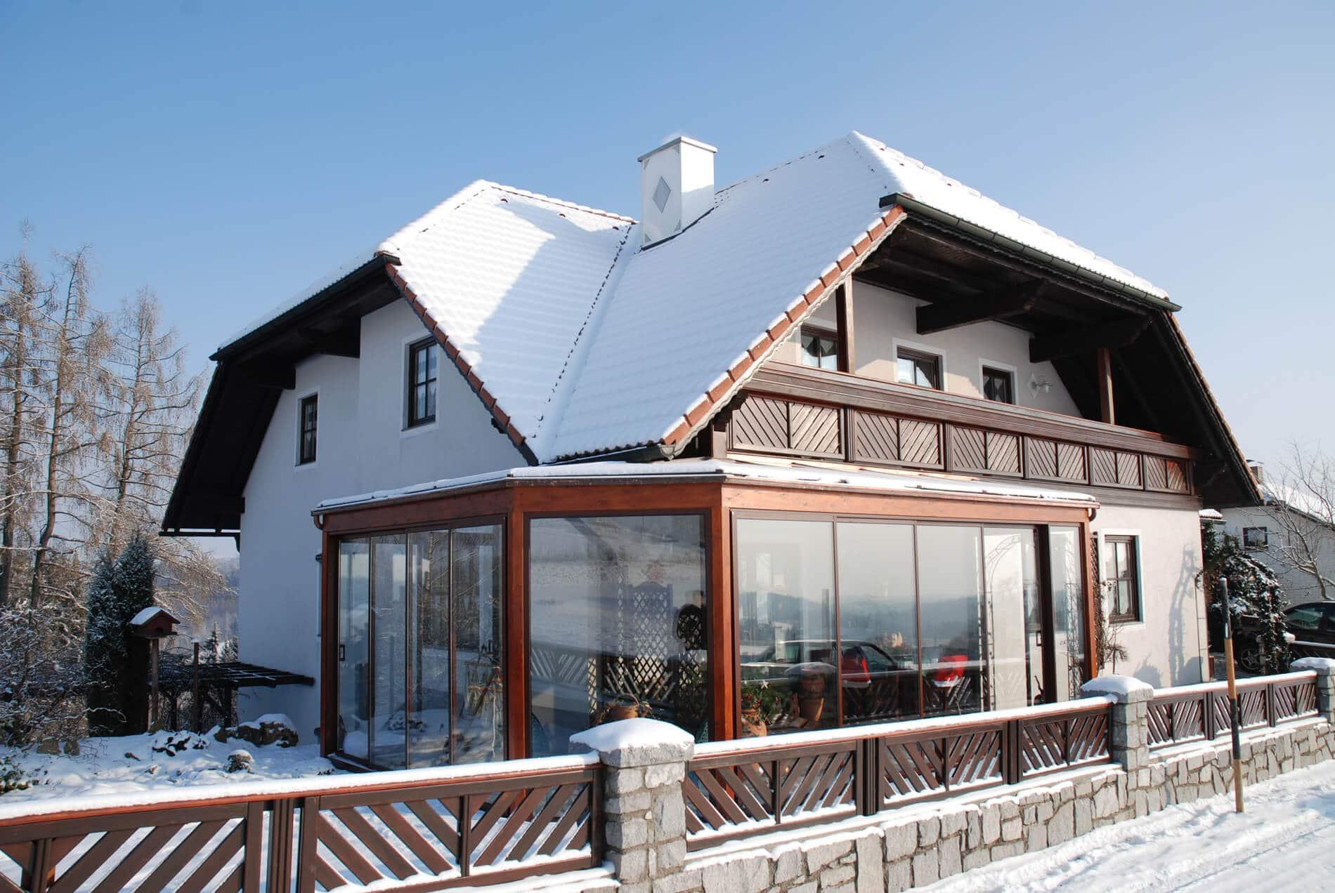 Klassischer Wintergarten für Haus