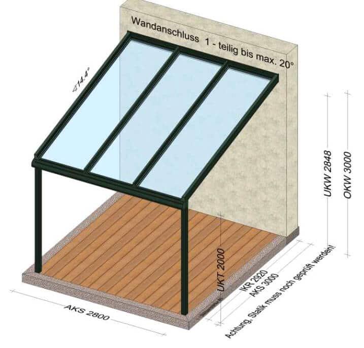 Kleine Terrassenüberdachung nach Maß