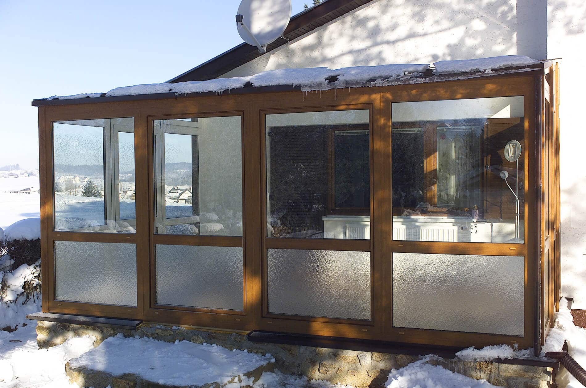 glasoase mit schiebet ren wintergarten schmidinger. Black Bedroom Furniture Sets. Home Design Ideas