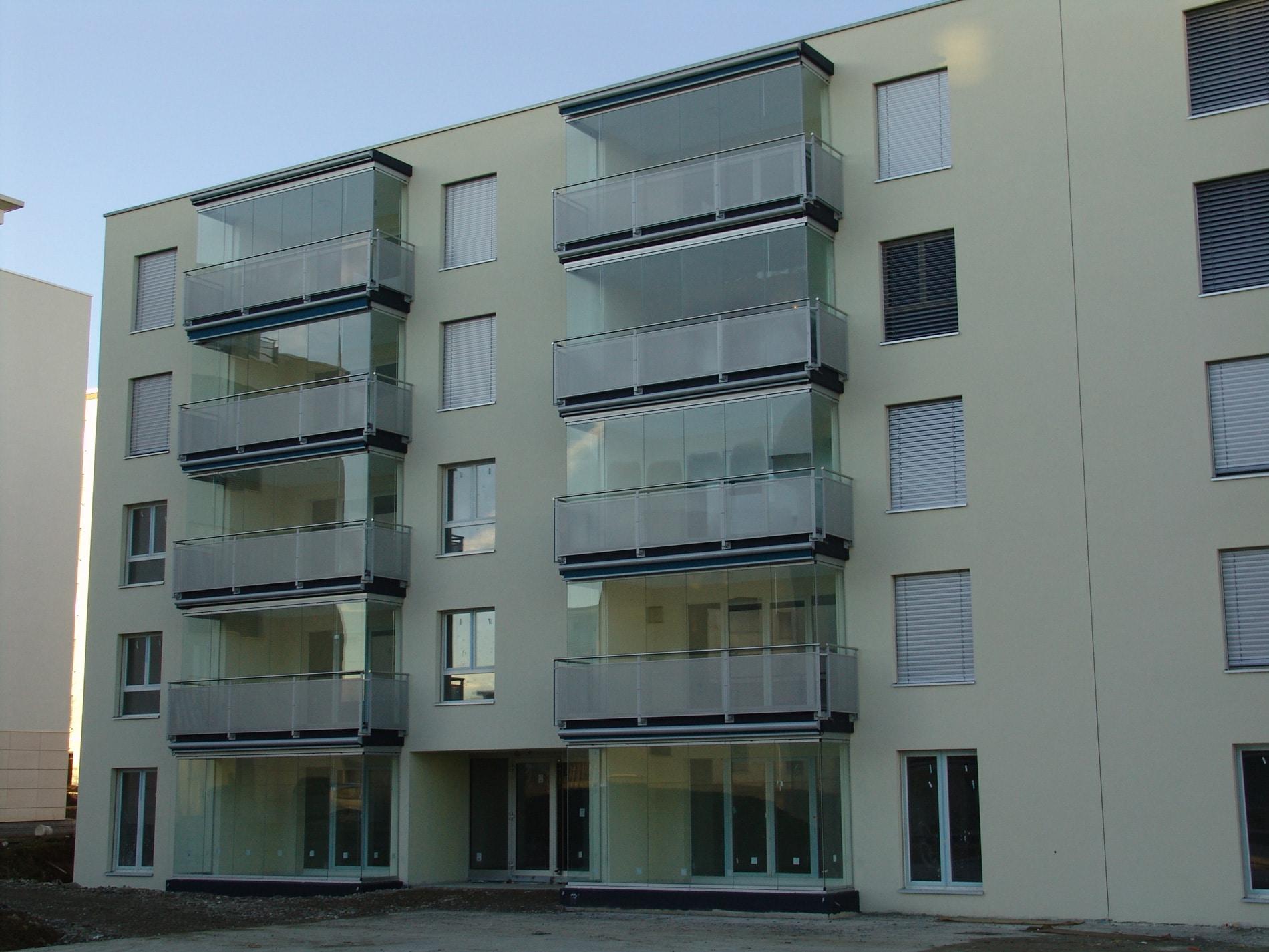 Loggia Verbauungen aus Glas öffenbar