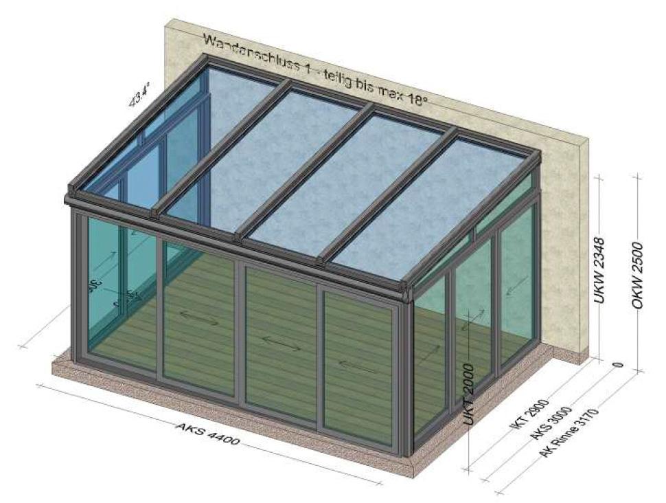 Mittelwarmer Wintergarten Planung