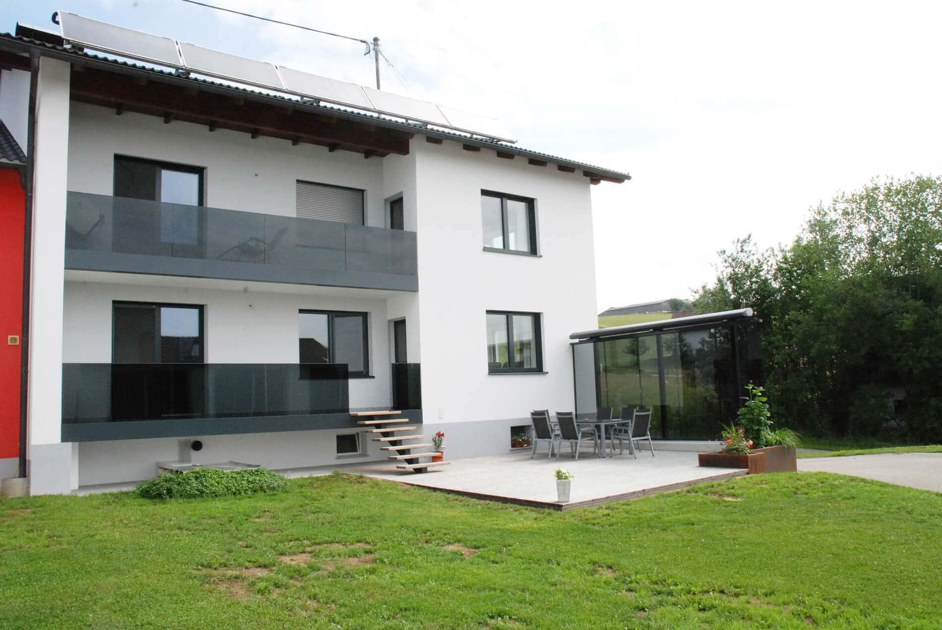 Mobiler Windschutz für Terrasse